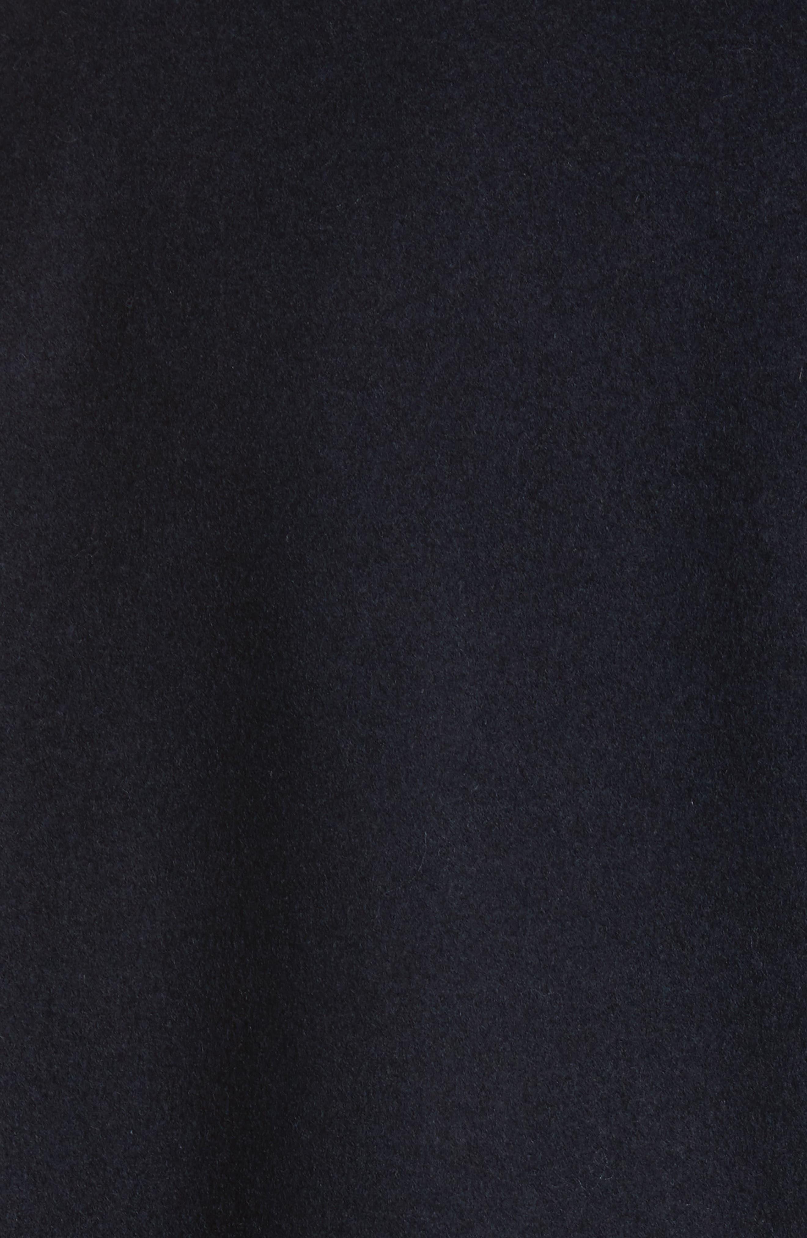 Walsh Wool Blend Topcoat,                             Alternate thumbnail 5, color,                             Navy