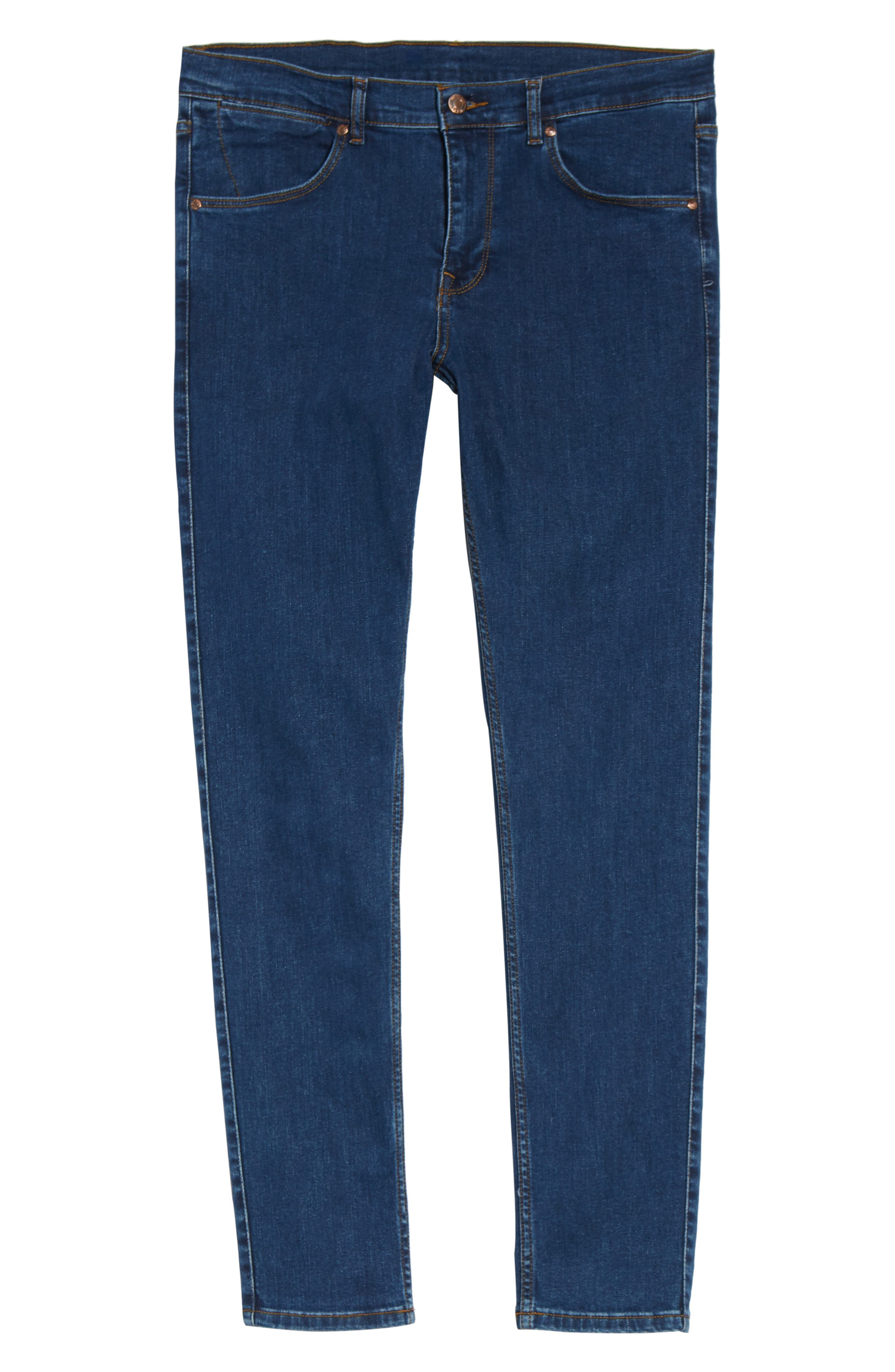 Clark Slim Straight Leg Jeans,                             Alternate thumbnail 6, color,                             Mid Retro