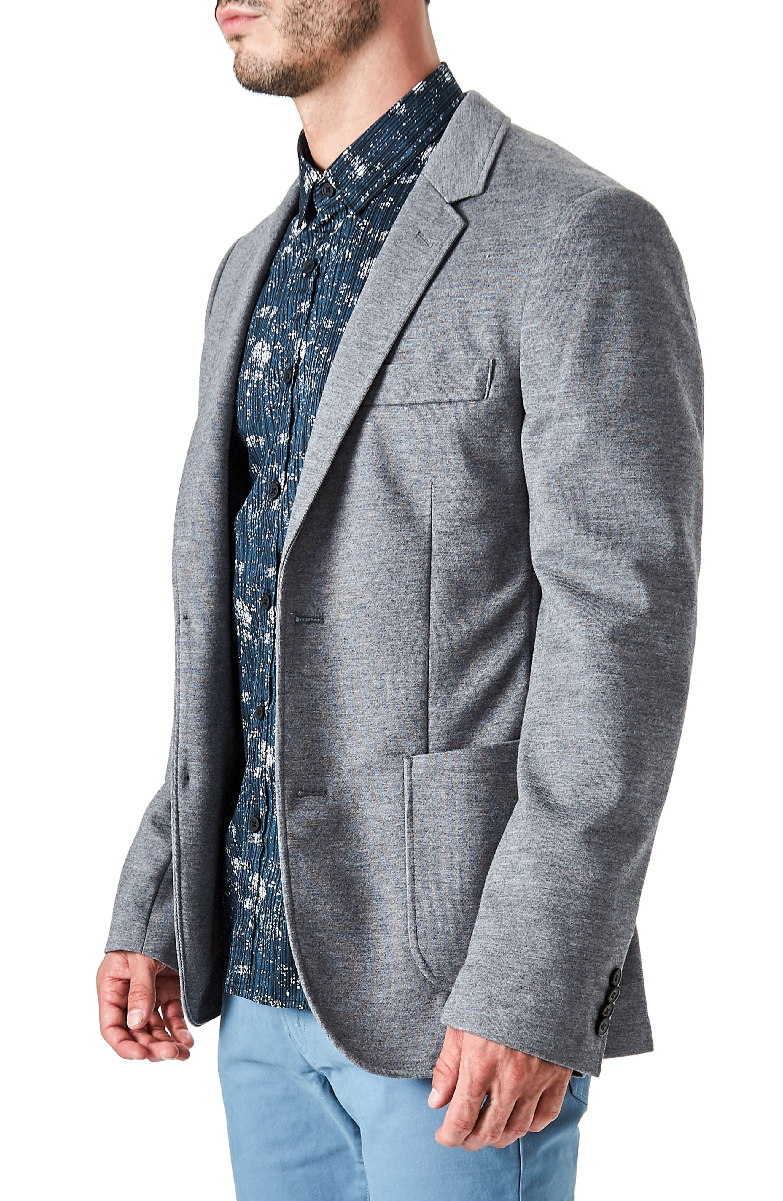 Urbino Casual Blazer,                             Alternate thumbnail 3, color,                             Grey