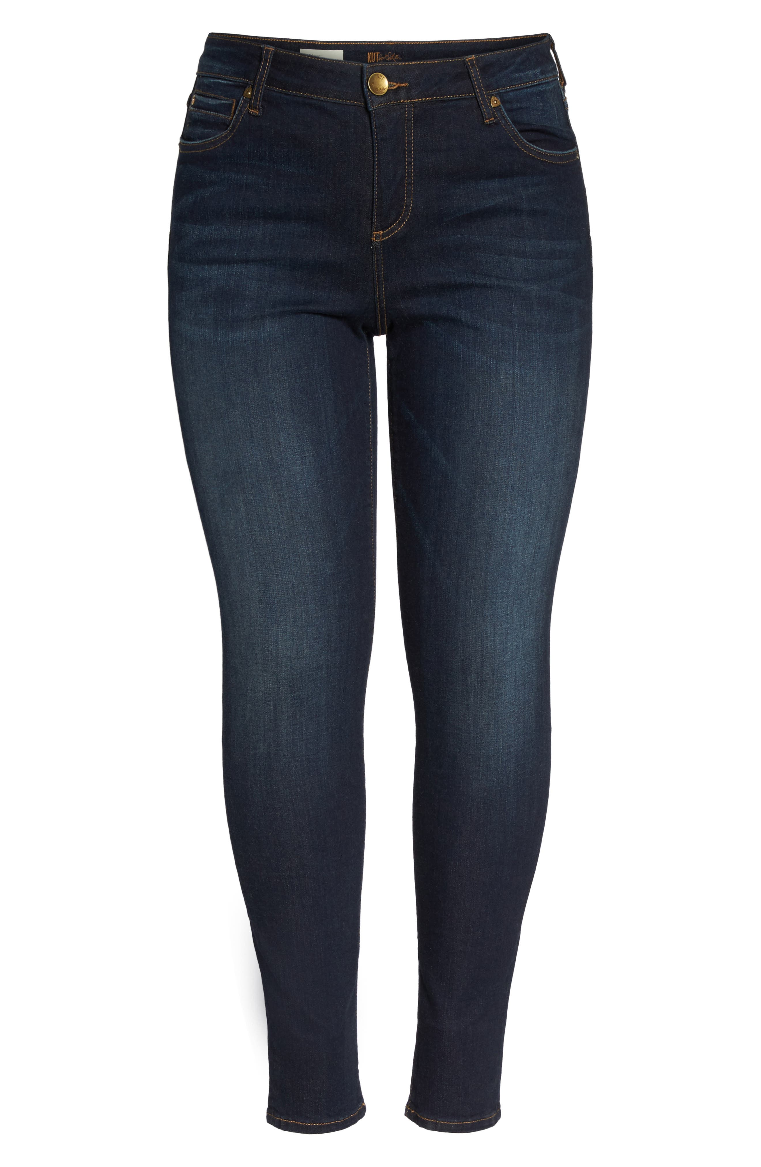 Diana Skinny Jeans,                             Alternate thumbnail 7, color,                             Blinding W/ Euro Base Wash
