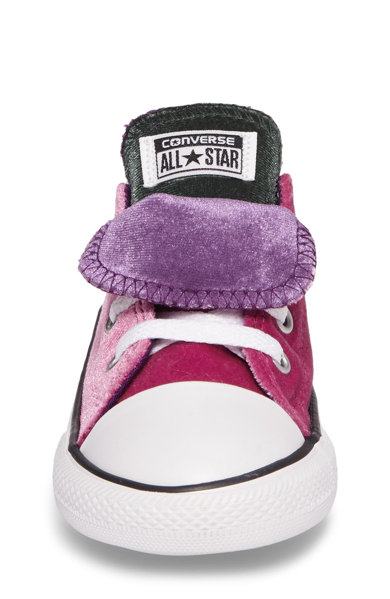 All Star<sup>®</sup> Velvet Double Tongue Sneaker,                             Alternate thumbnail 4, color,                             Pink Sapphire Velvet