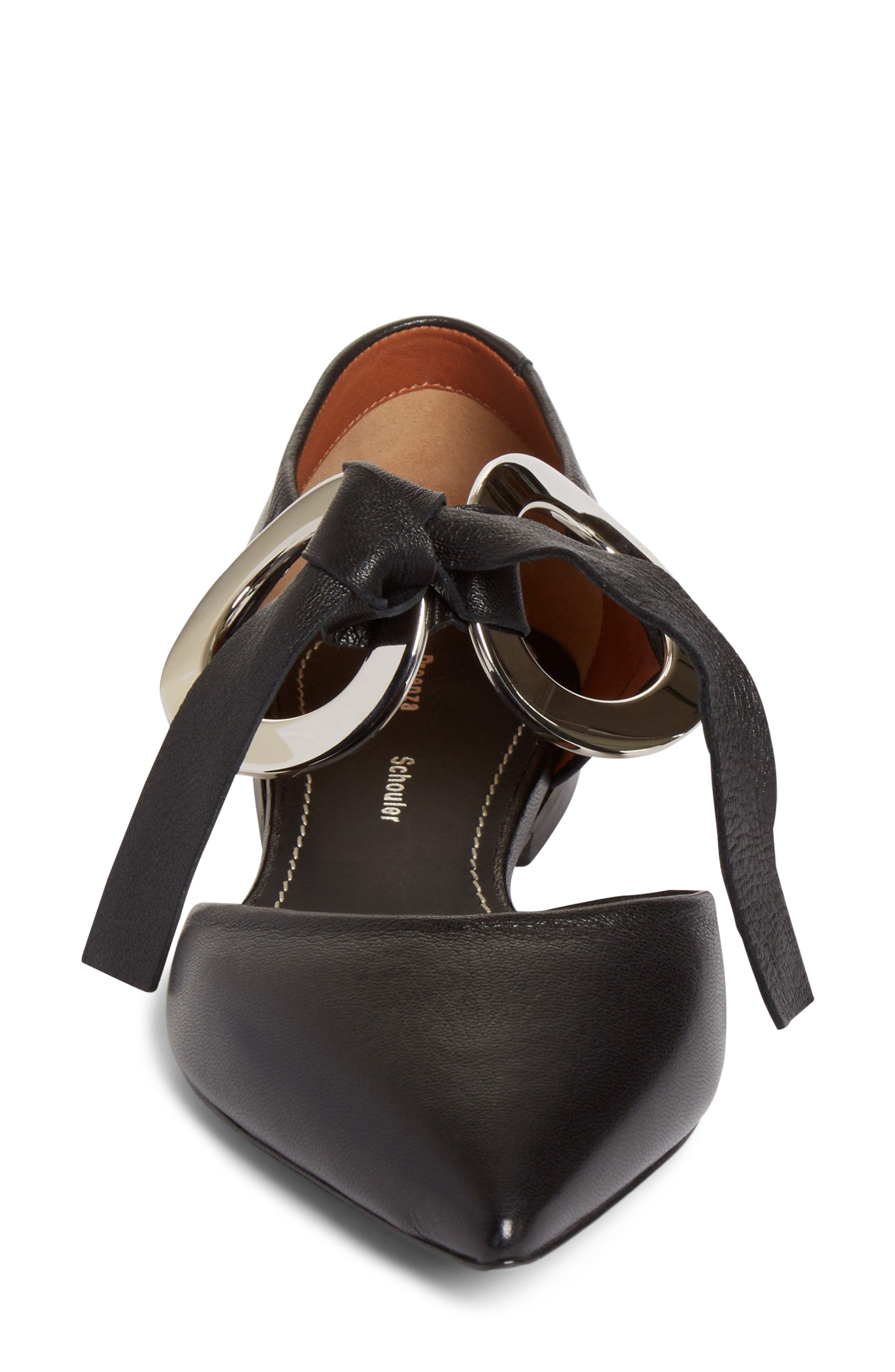 Alternate Image 3  - Proenza Schouler Lace-Up Pointy Toe Flat (Women)