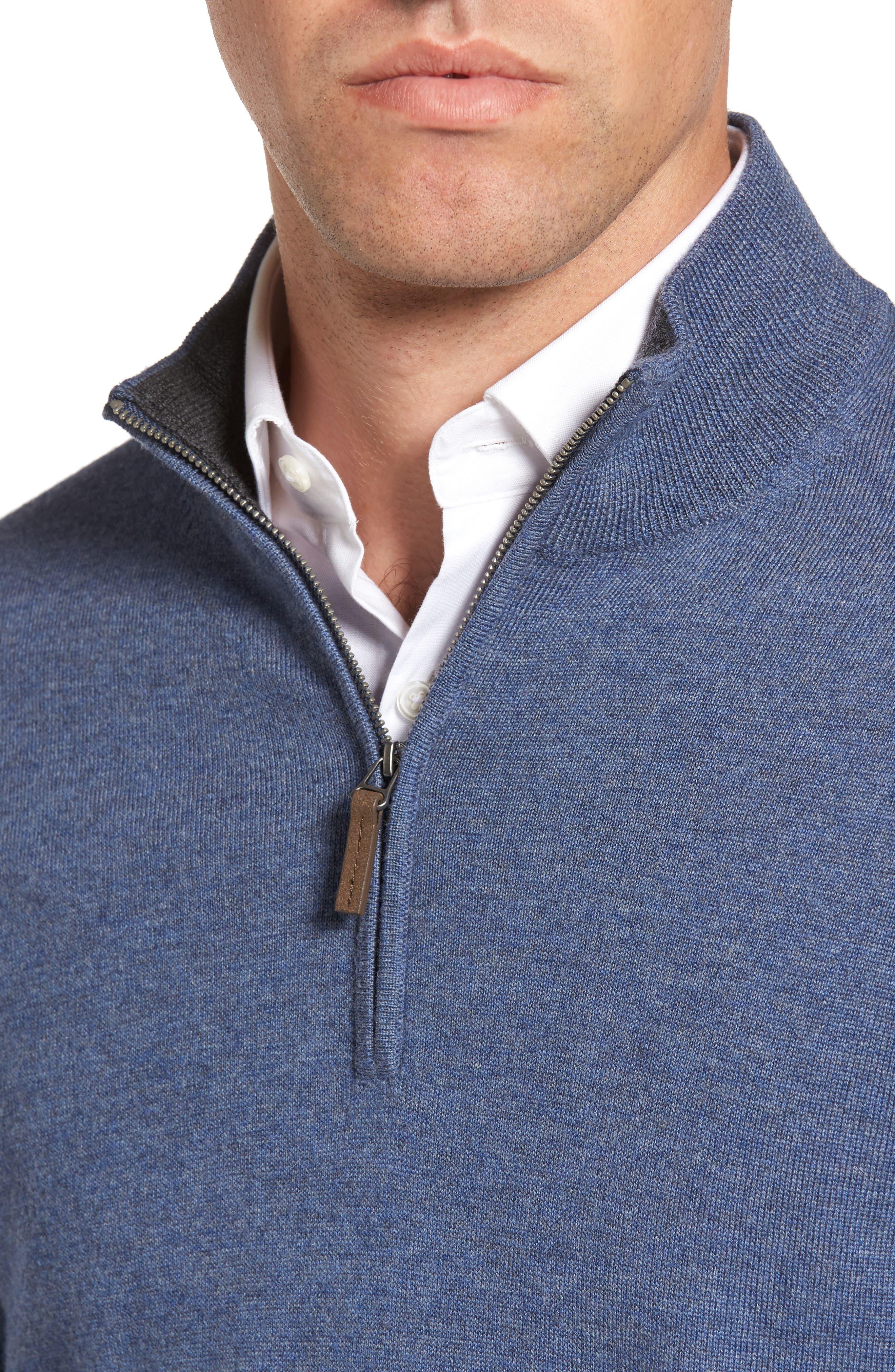 Alternate Image 4  - Nordstrom Men's Shop Quarter Zip Merino Wool Pullover