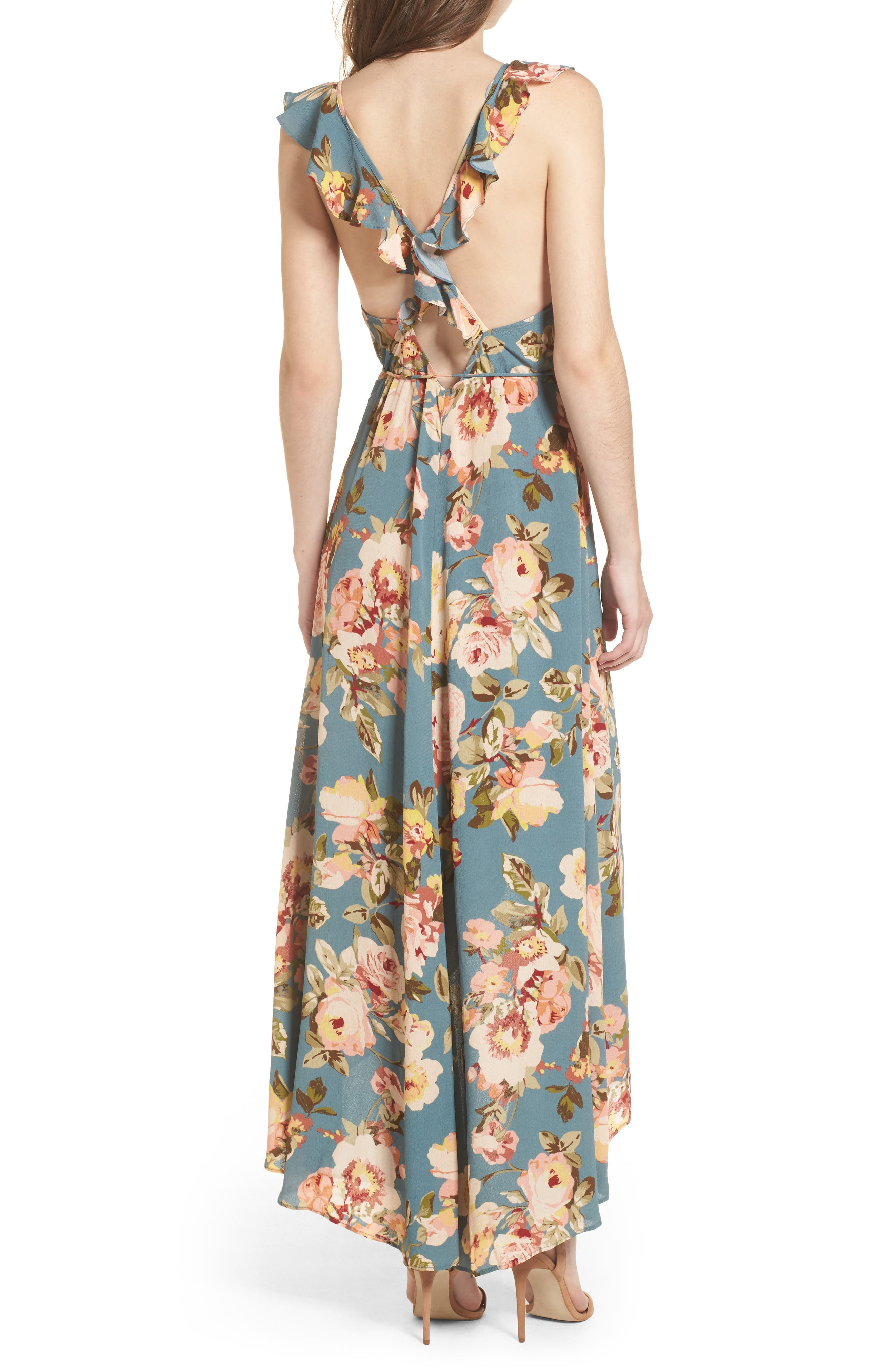 Alternate Image 2  - Privacy Please Fillmore Wrap Maxi Dress