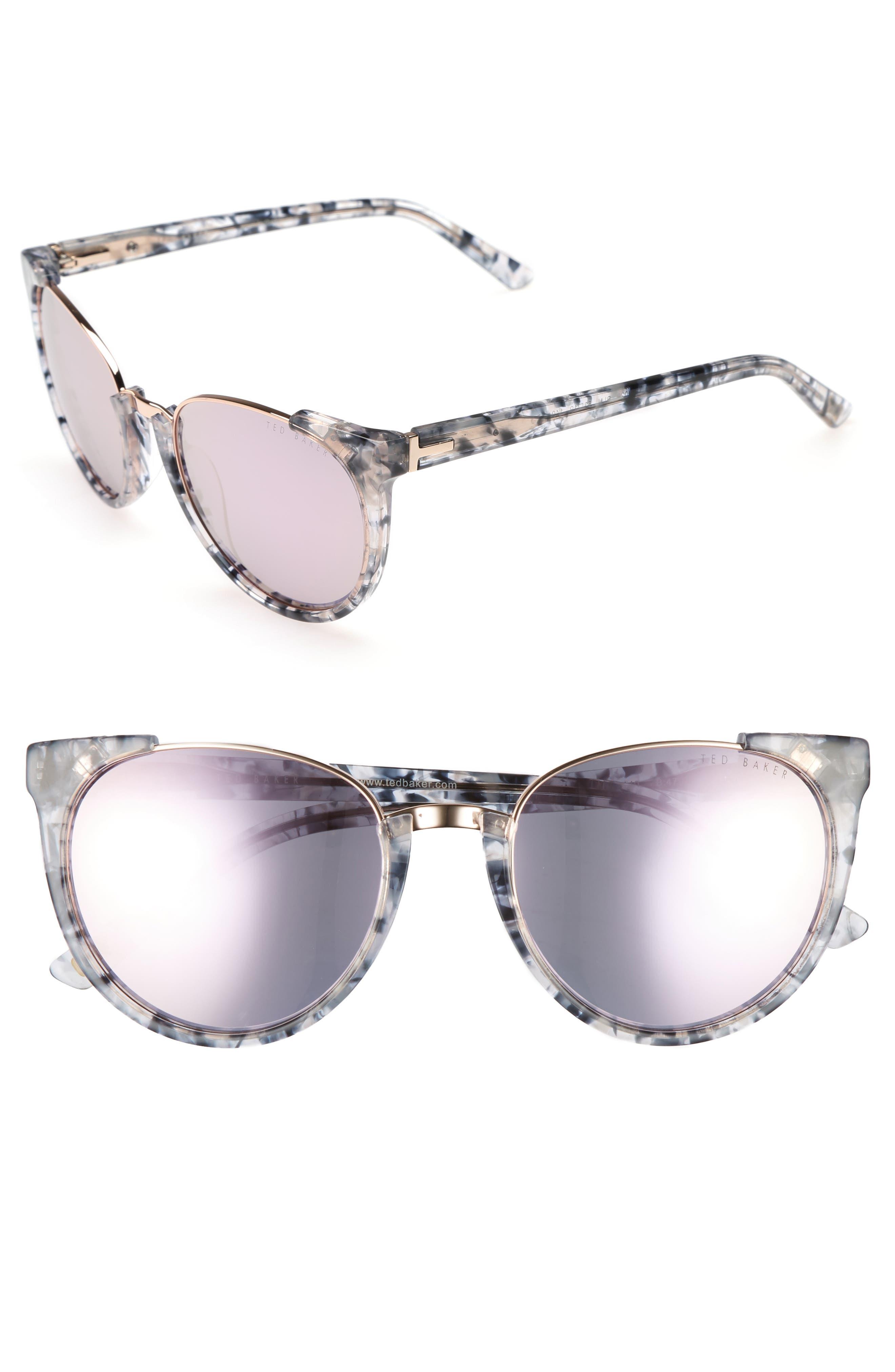 53mm Modified Oval Sunglasses,                             Main thumbnail 1, color,                             Blue