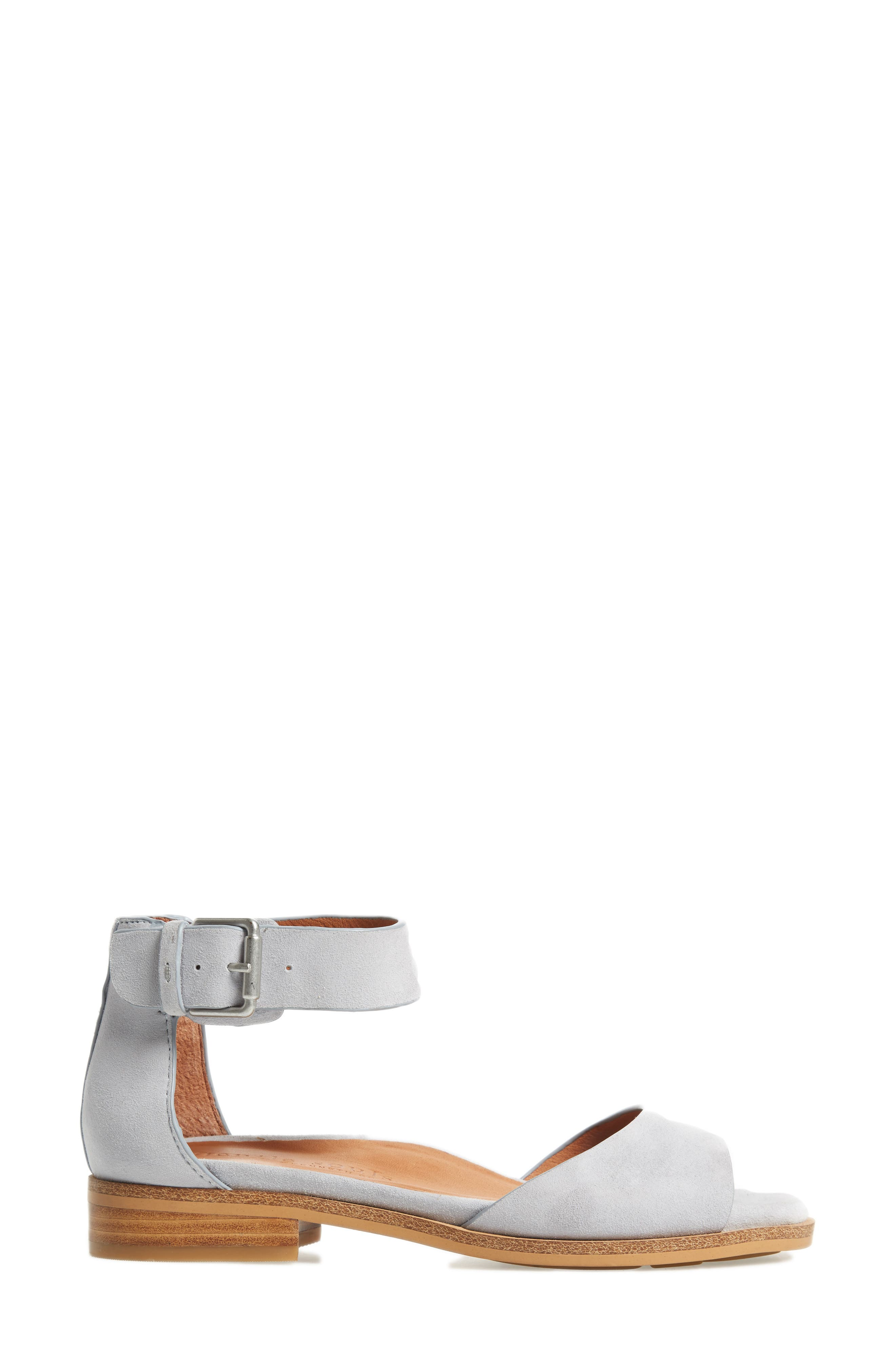 by Kenneth Cole Gracey Sandal,                             Alternate thumbnail 3, color,                             Winter Blue Suede