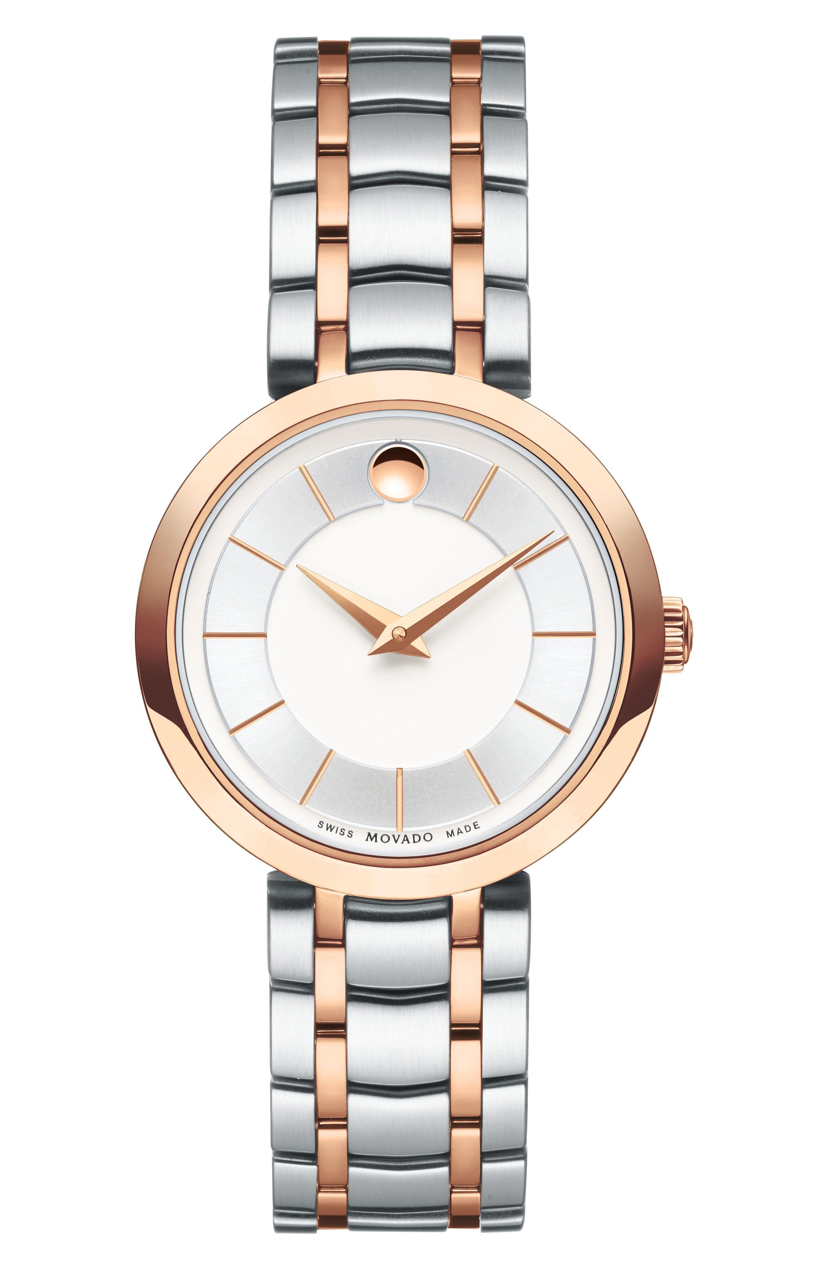 Alternate Image 1 Selected - Movado 1881 Quartz Bracelet Watch, 28mm
