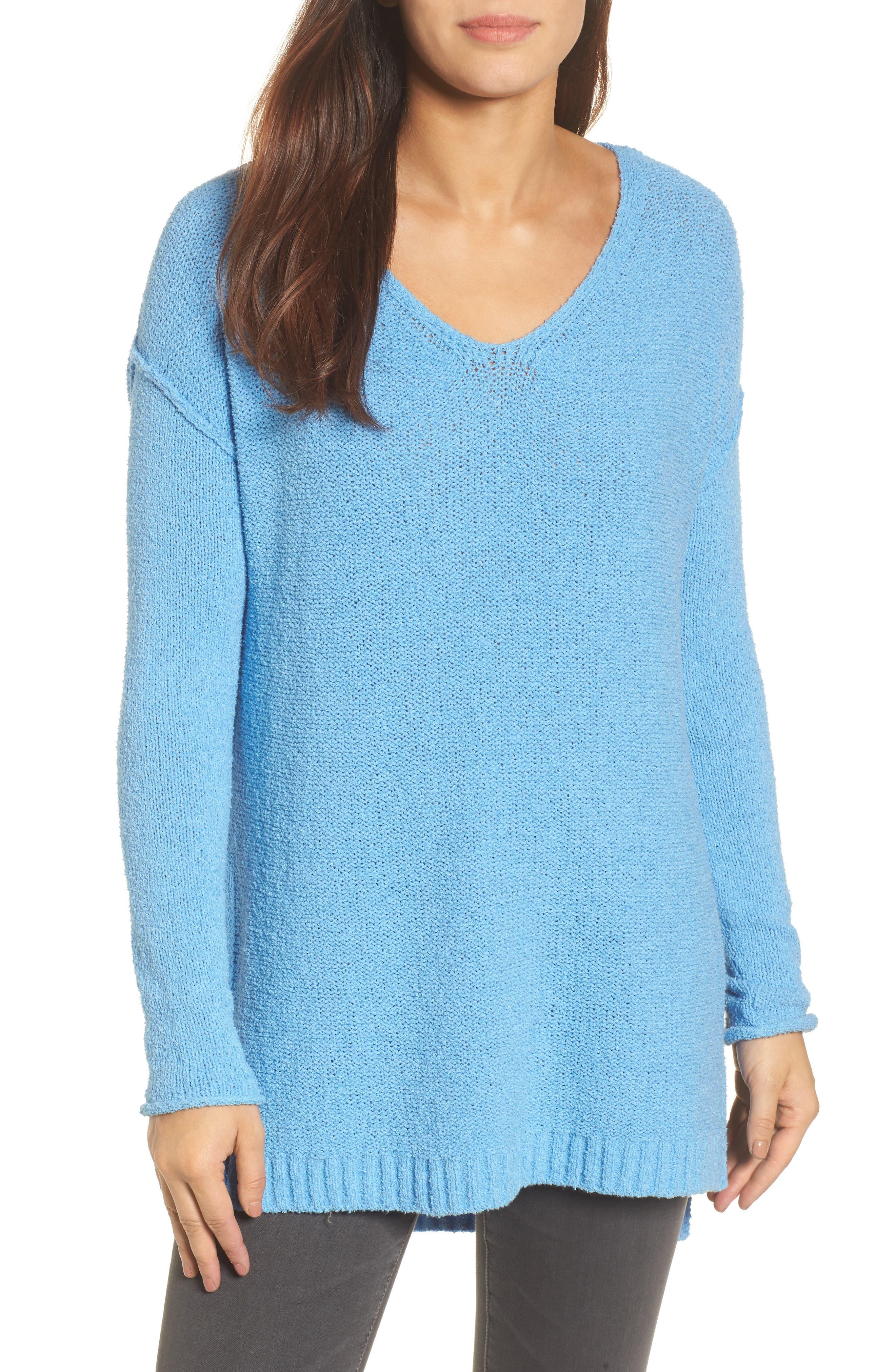 Tunic Sweater,                             Main thumbnail 1, color,                             Blue Lichen