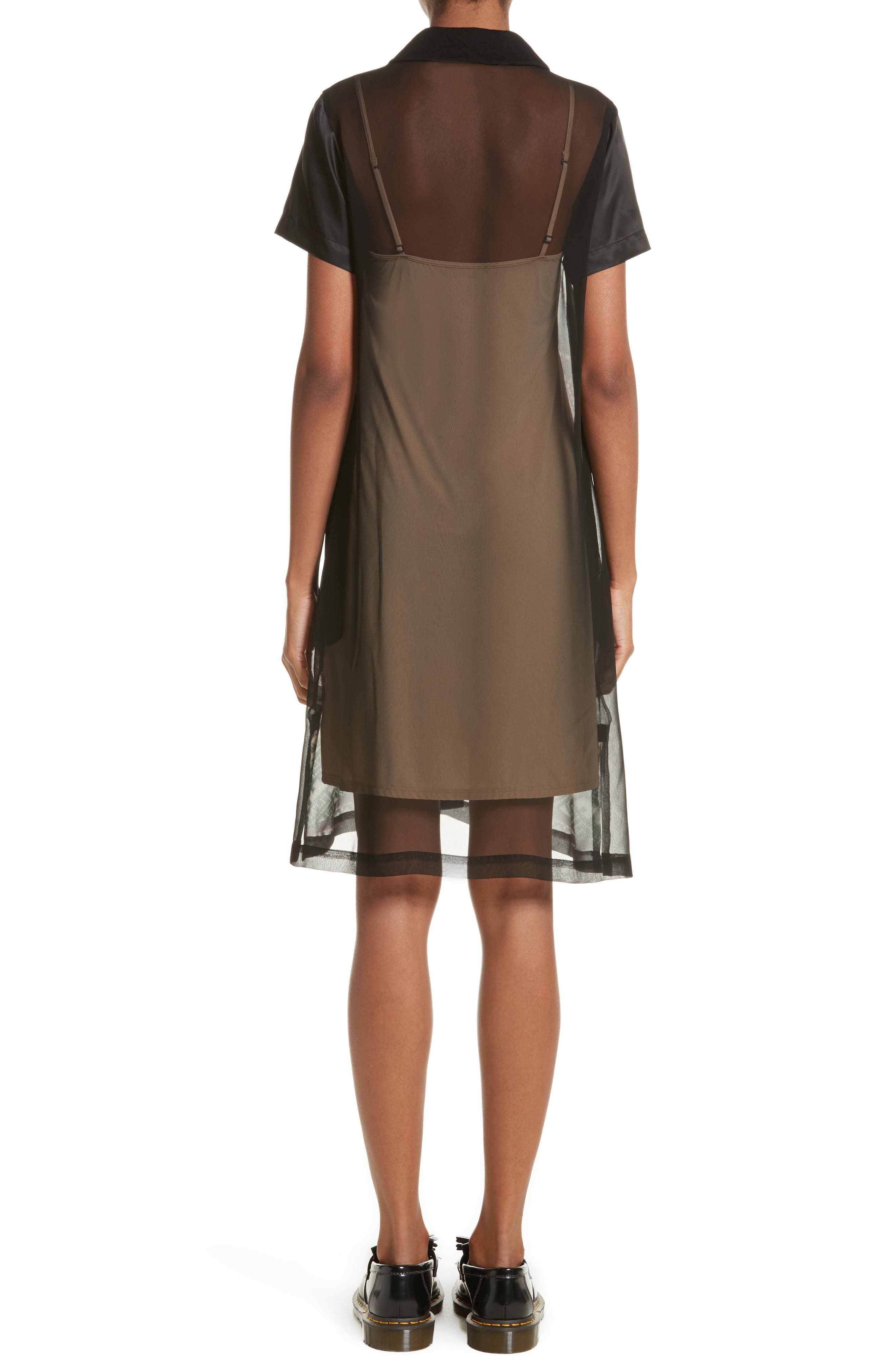 Alternate Image 2  - Tricot Comme des Garçons Mixed Print Short Sleeve Dress