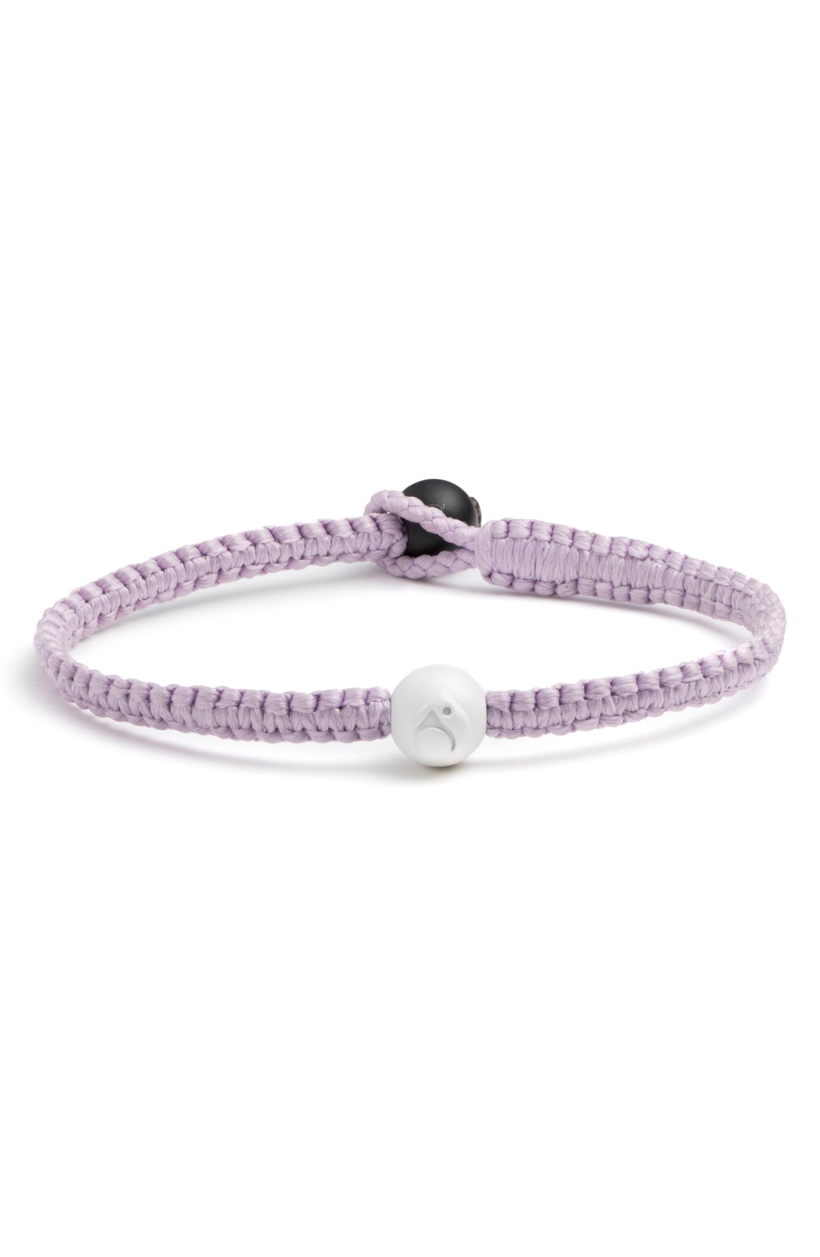 Single Wrap Bracelet,                             Alternate thumbnail 2, color,                             Lilac