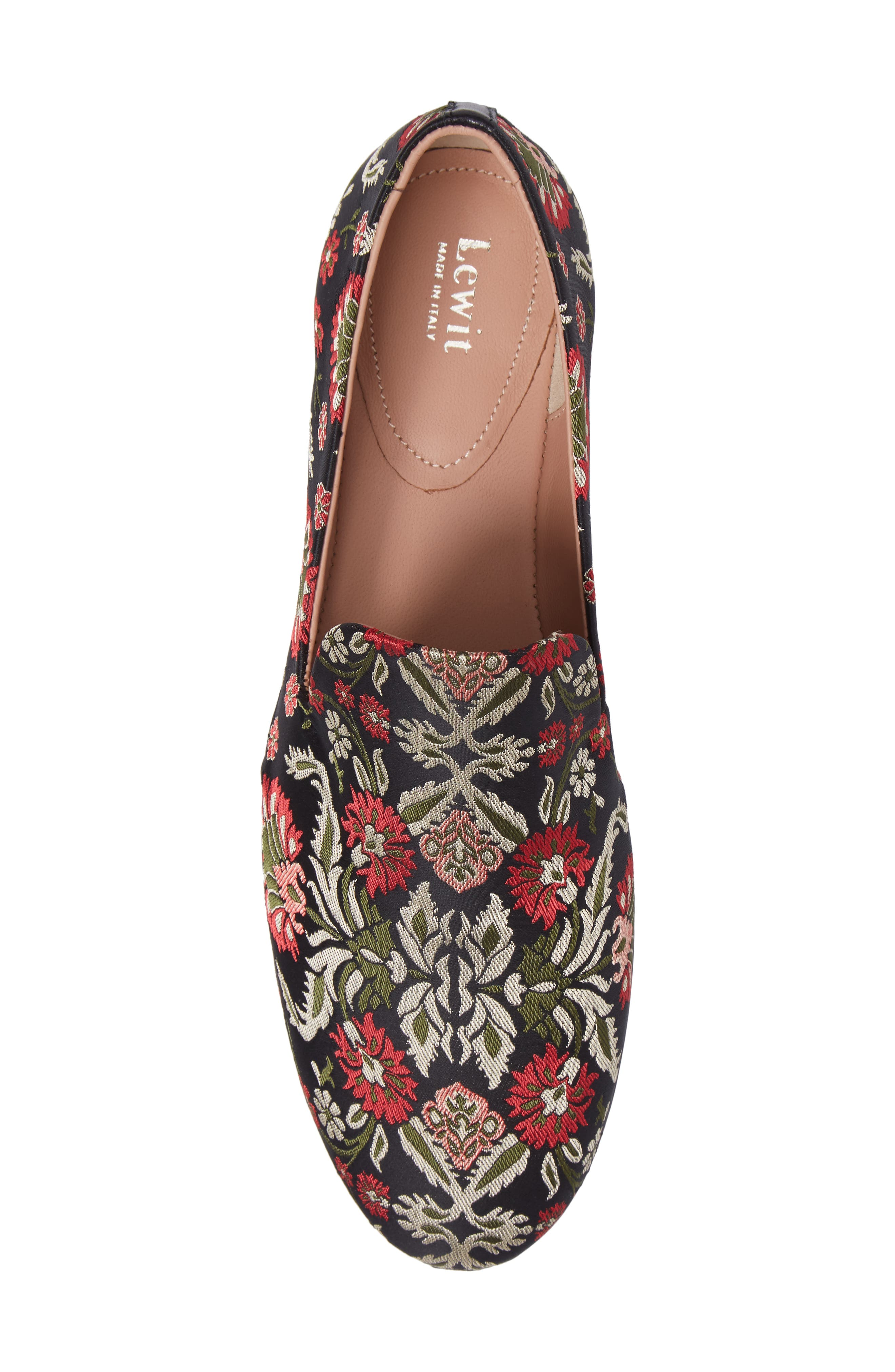 Gabriella Loafer,                             Alternate thumbnail 6, color,                             Red / Green Fabric