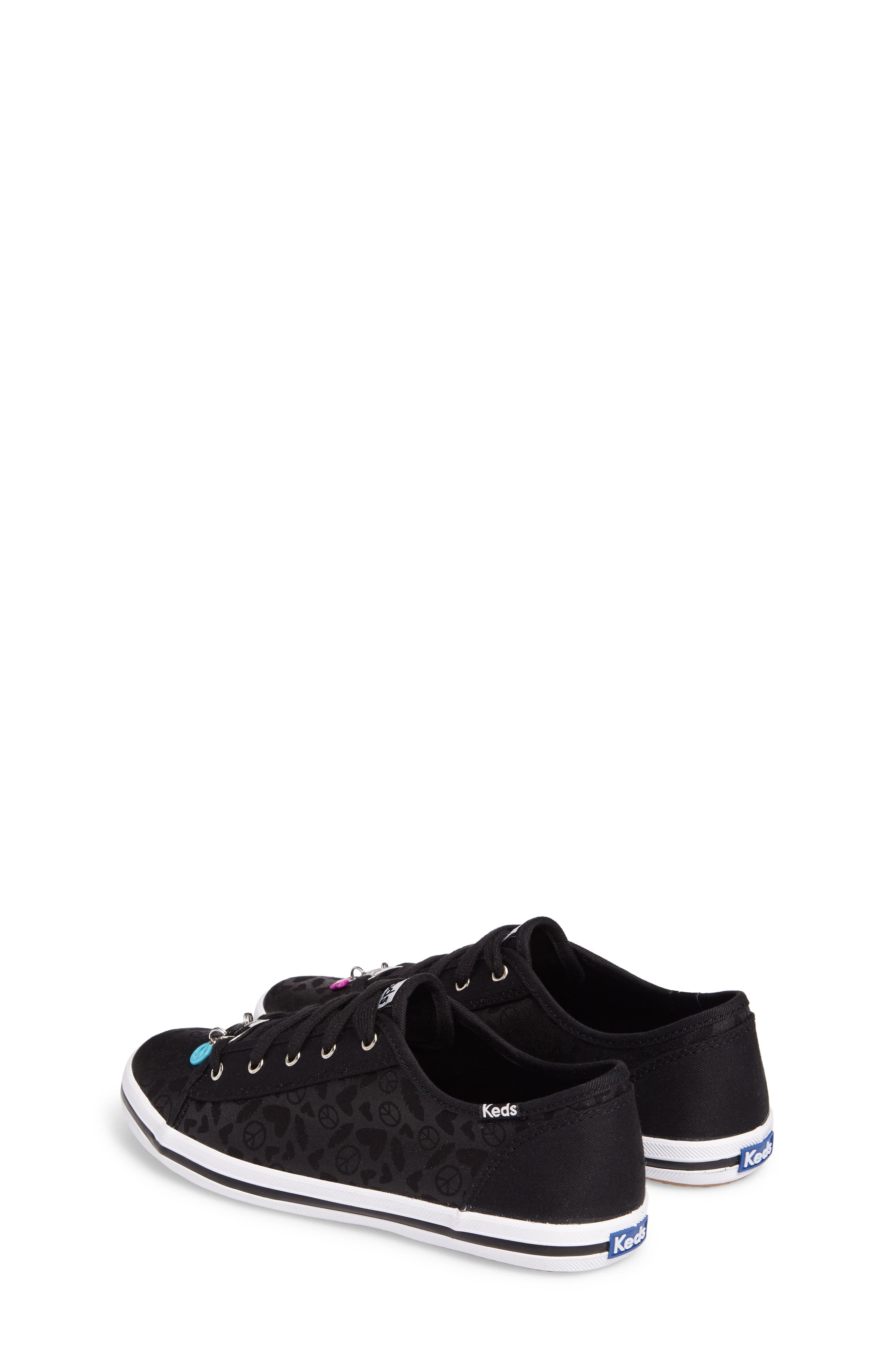 Kickstart Charm Sneaker,                             Alternate thumbnail 2, color,                             Black