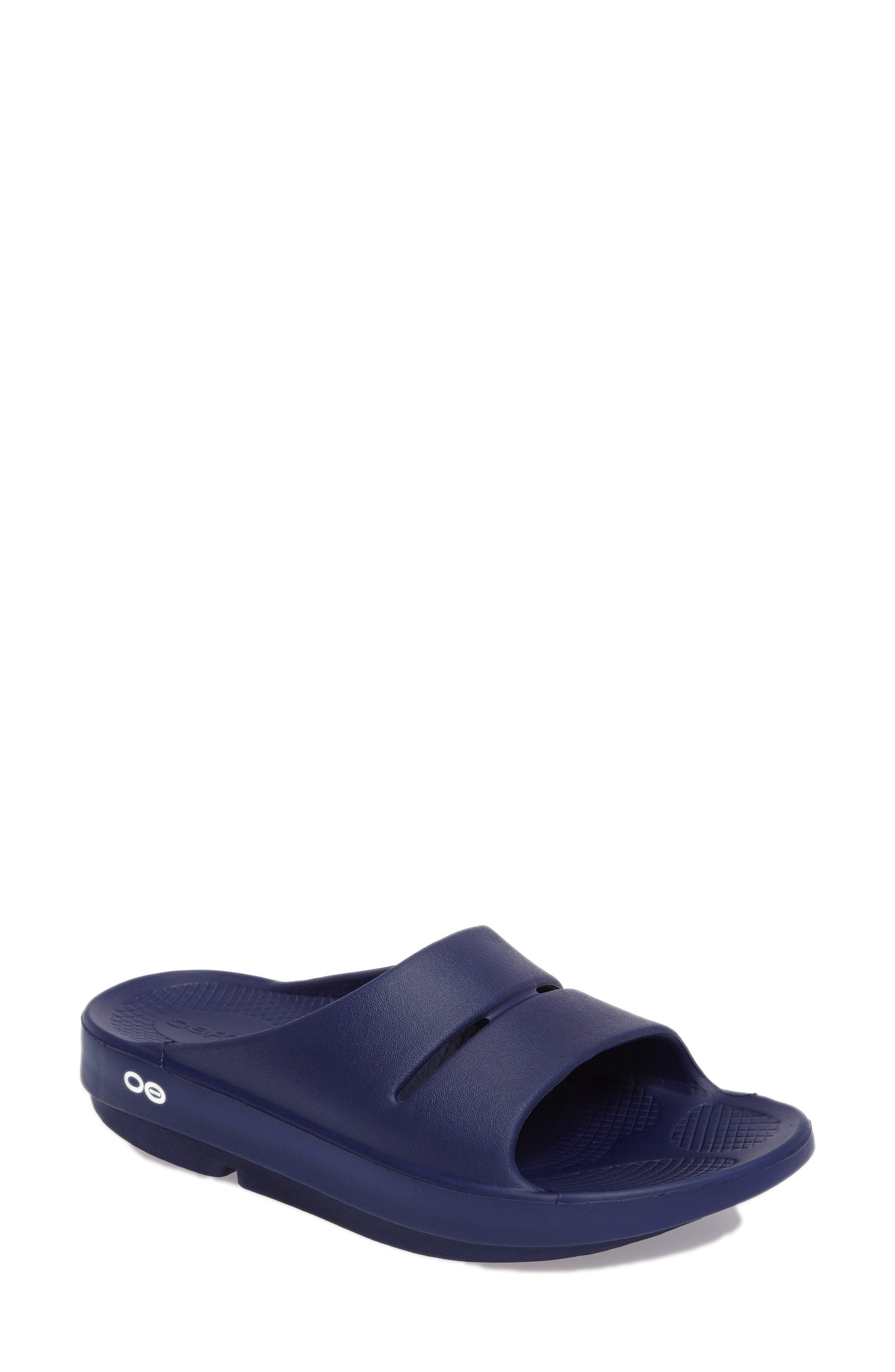 Alternate Image 1 Selected - Oofos OOahh Slide Sandal (Women)