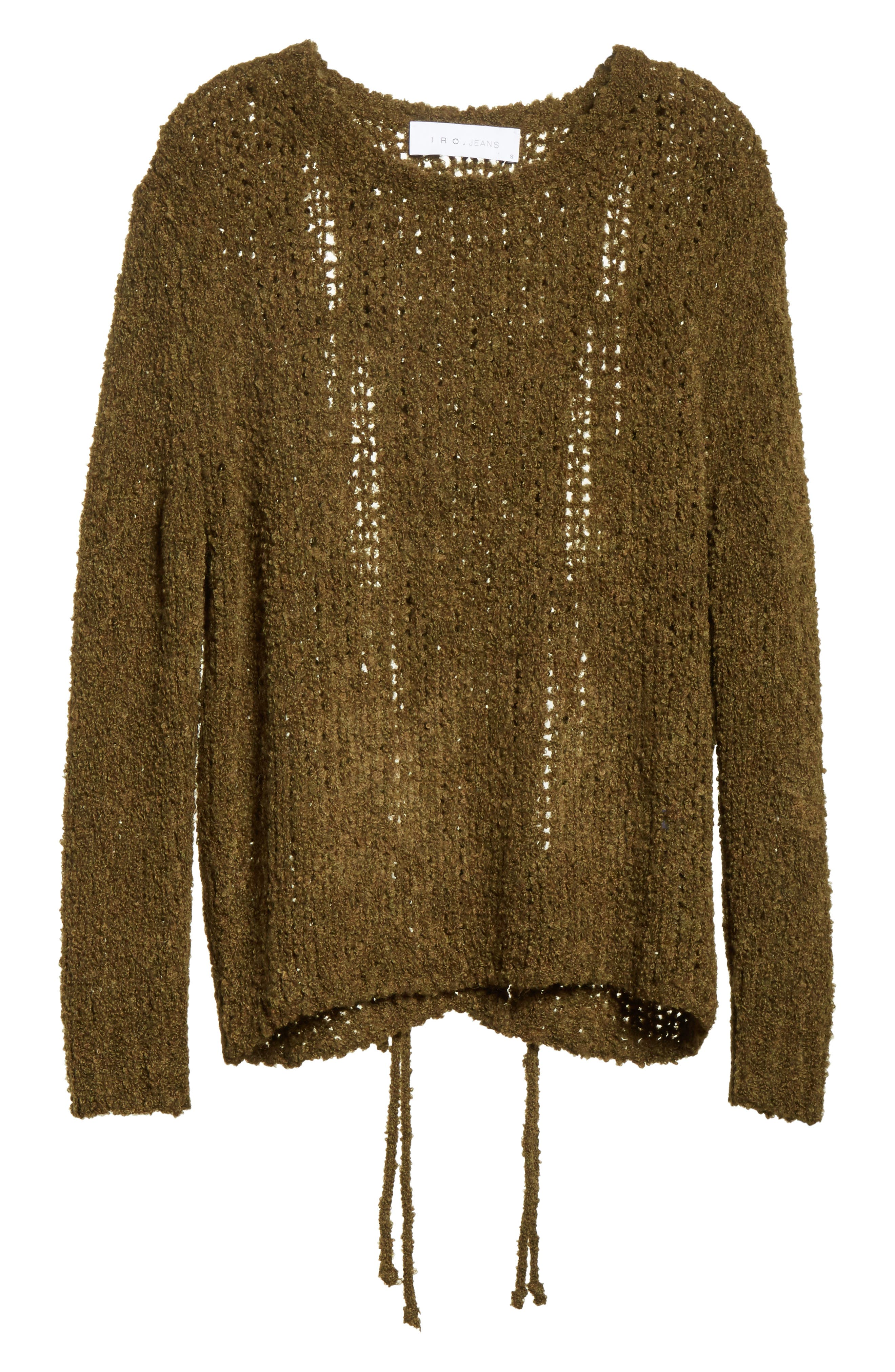Cresent Cutout Sweater,                             Alternate thumbnail 6, color,                             Olive