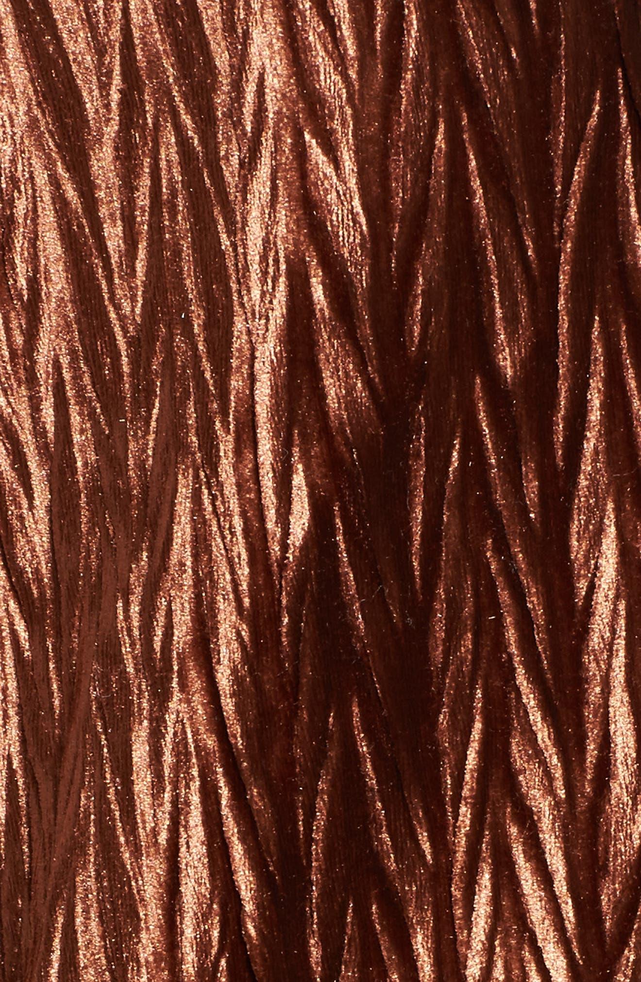 Velvet Blazer,                             Alternate thumbnail 5, color,                             Amber
