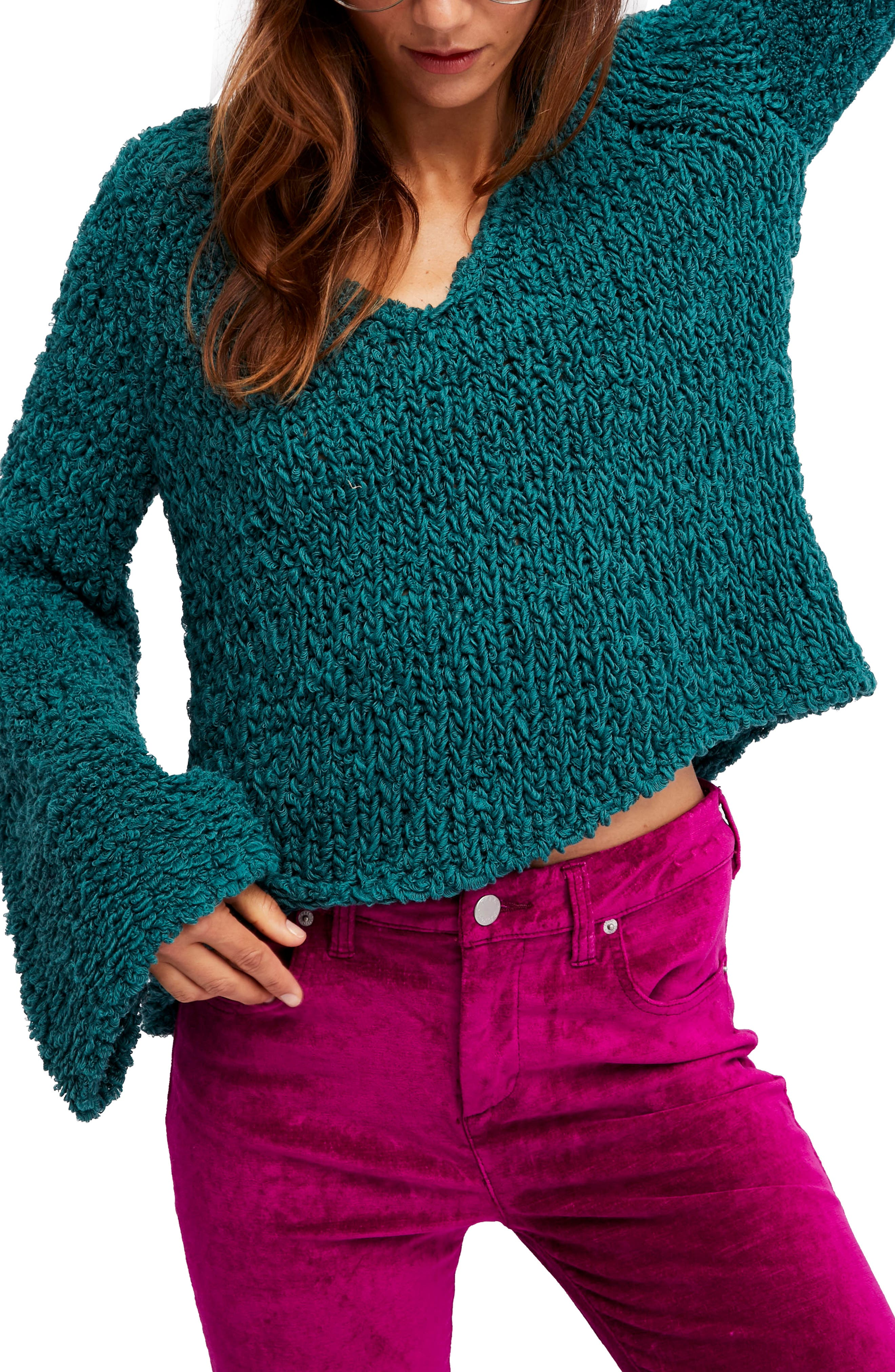 Sand Dune Sweater,                             Main thumbnail 1, color,                             Green