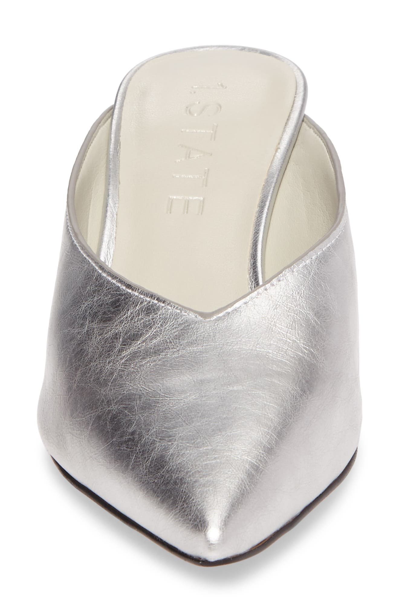 Leanne Mule,                             Alternate thumbnail 4, color,                             Bright Silver Leather
