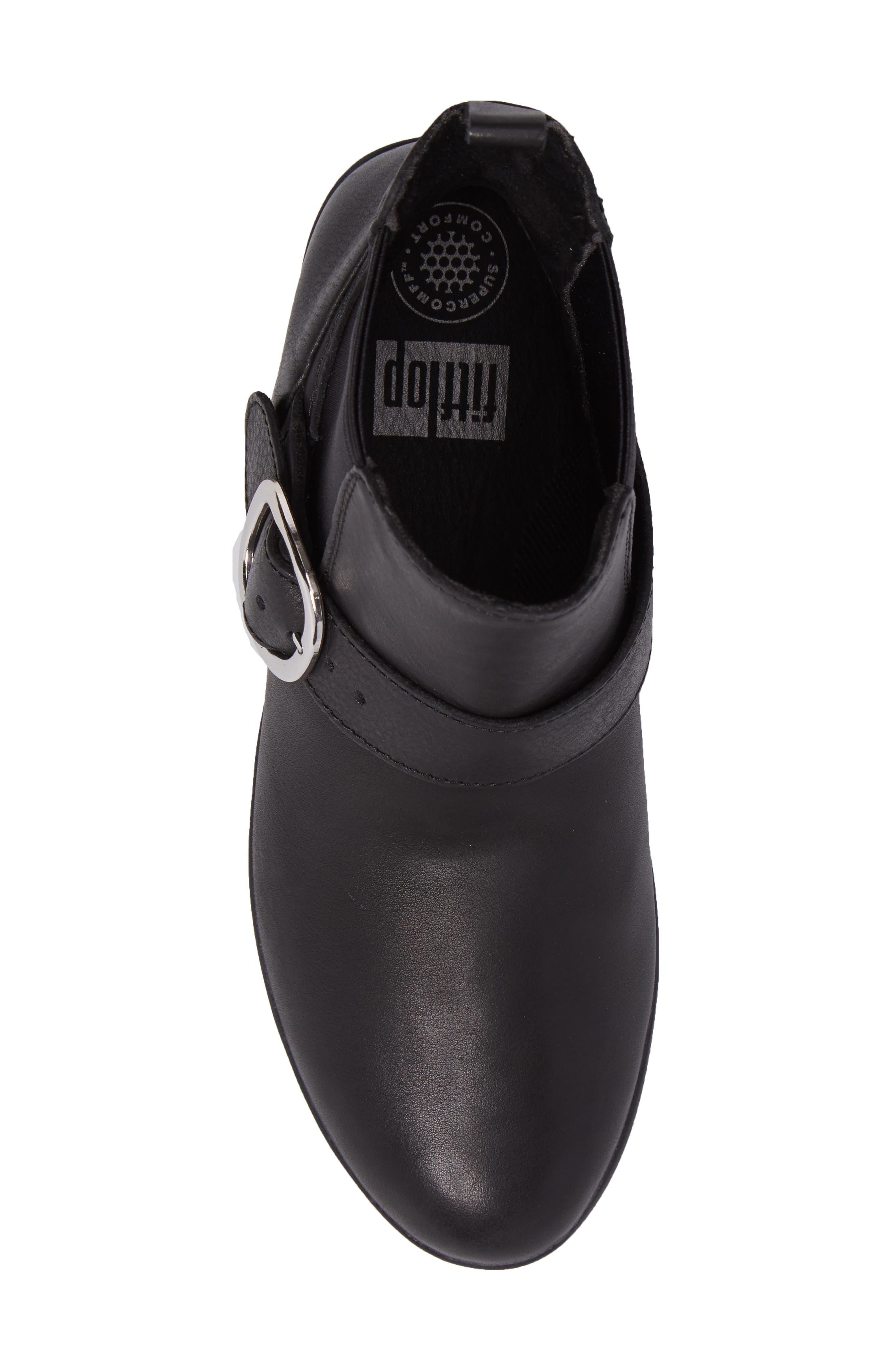 Superbuckle Chelsea Boot,                             Alternate thumbnail 5, color,                             Black