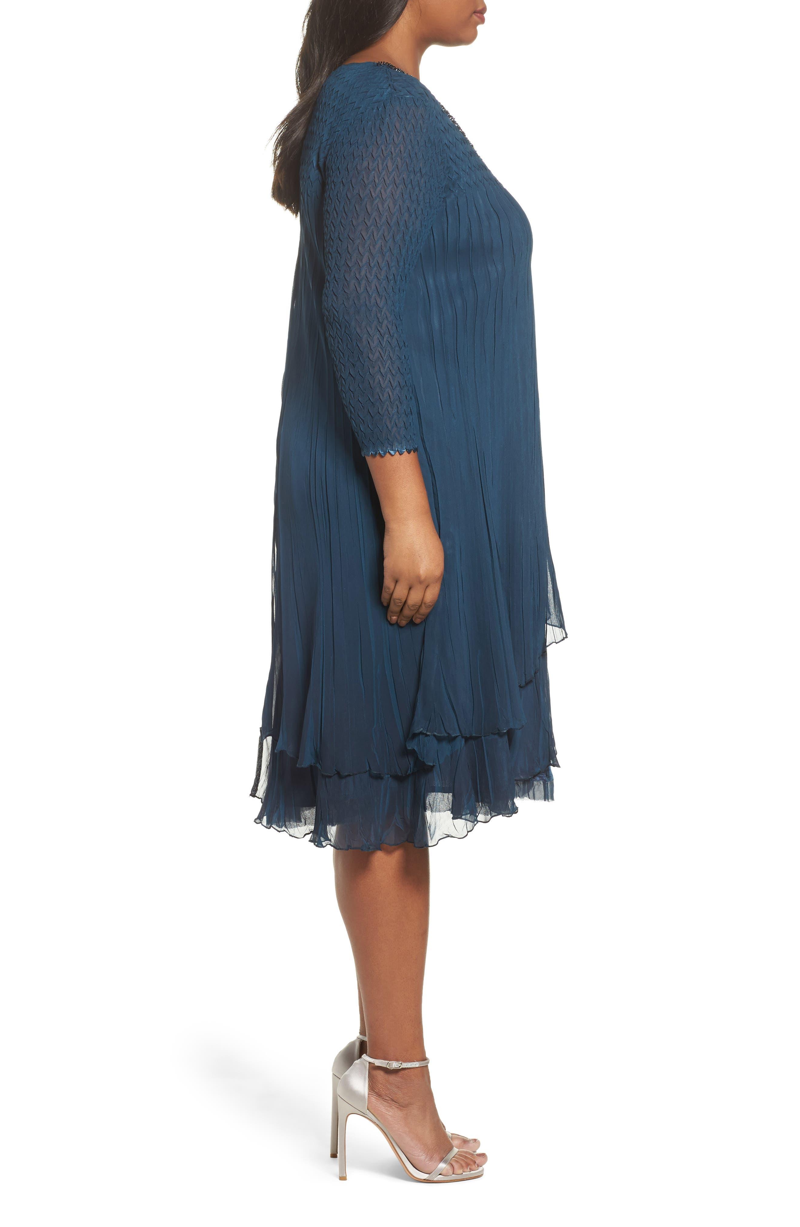 Alternate Image 3  - Komarov Beaded Neck Chiffon Dress (Plus Size)