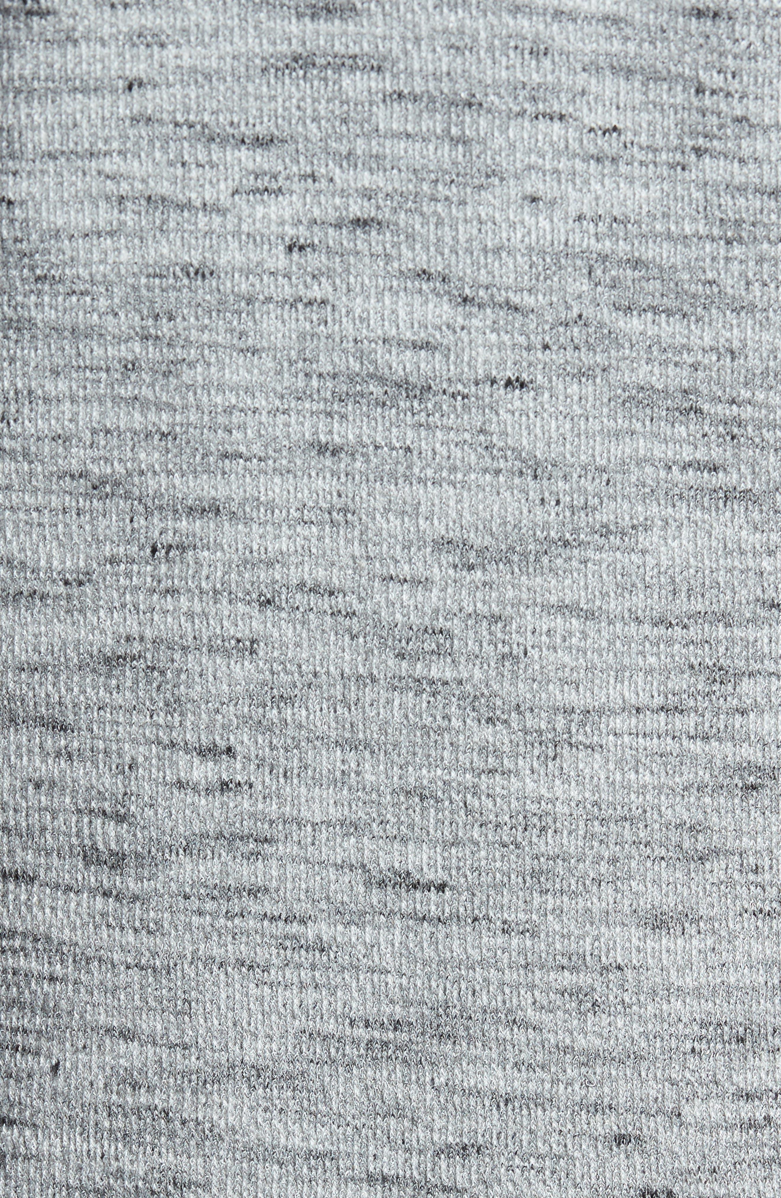 Waffle Knit Shirt,                             Alternate thumbnail 5, color,                             Grey Sleet Melange