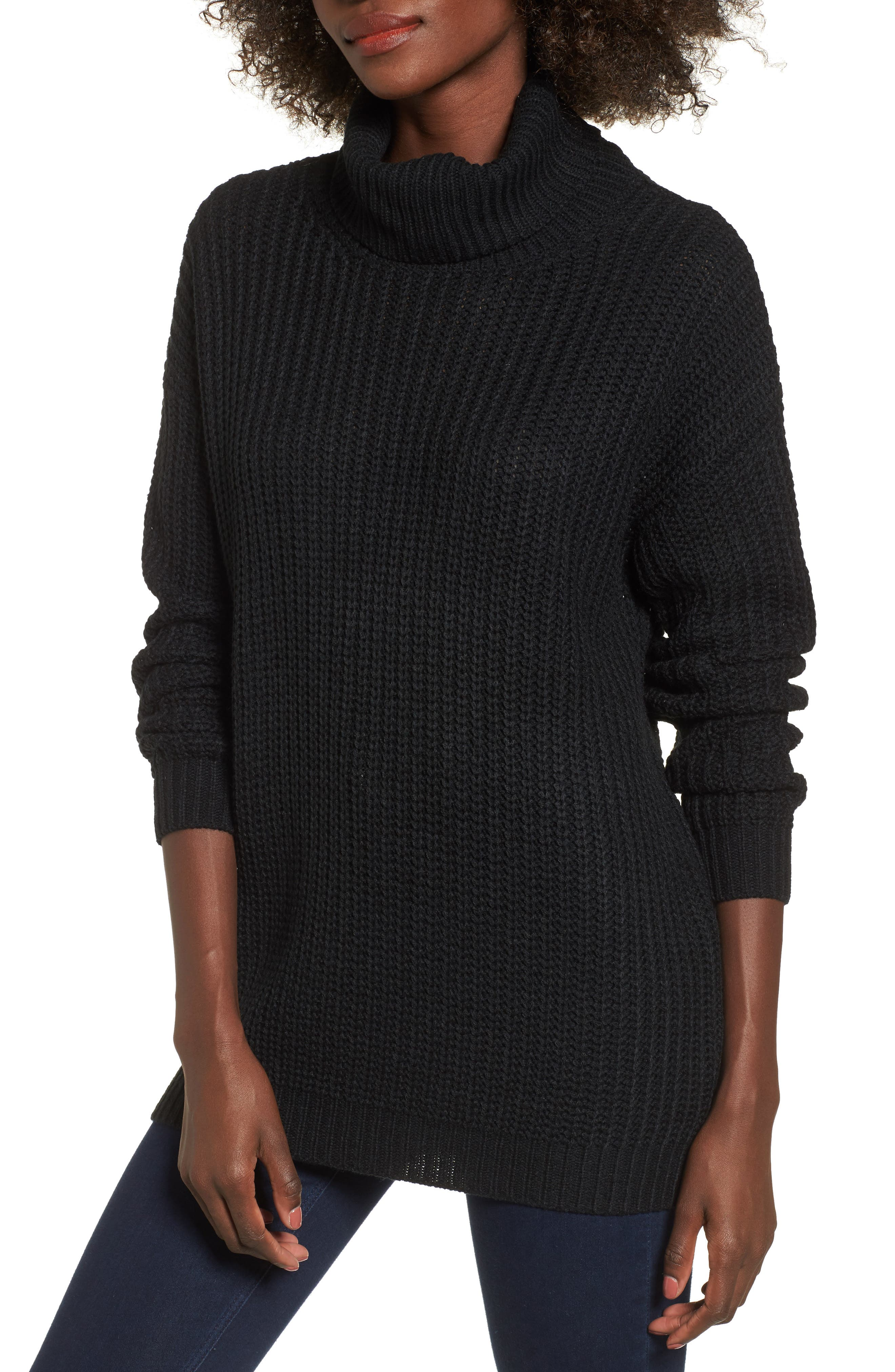 Sonya Open Back Sweater,                         Main,                         color, Black