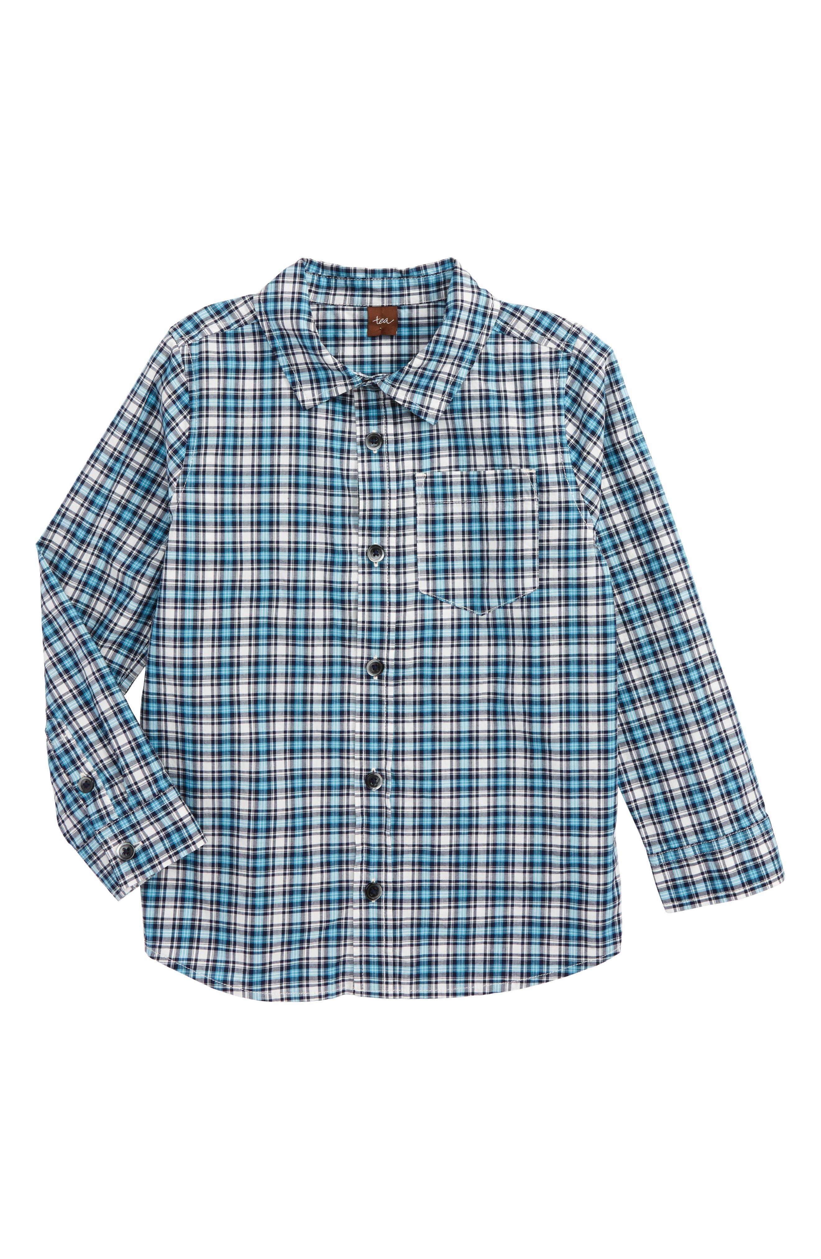 Tea Collection Heath Plaid Woven Shirt (Toddler Boys & Little Boys)