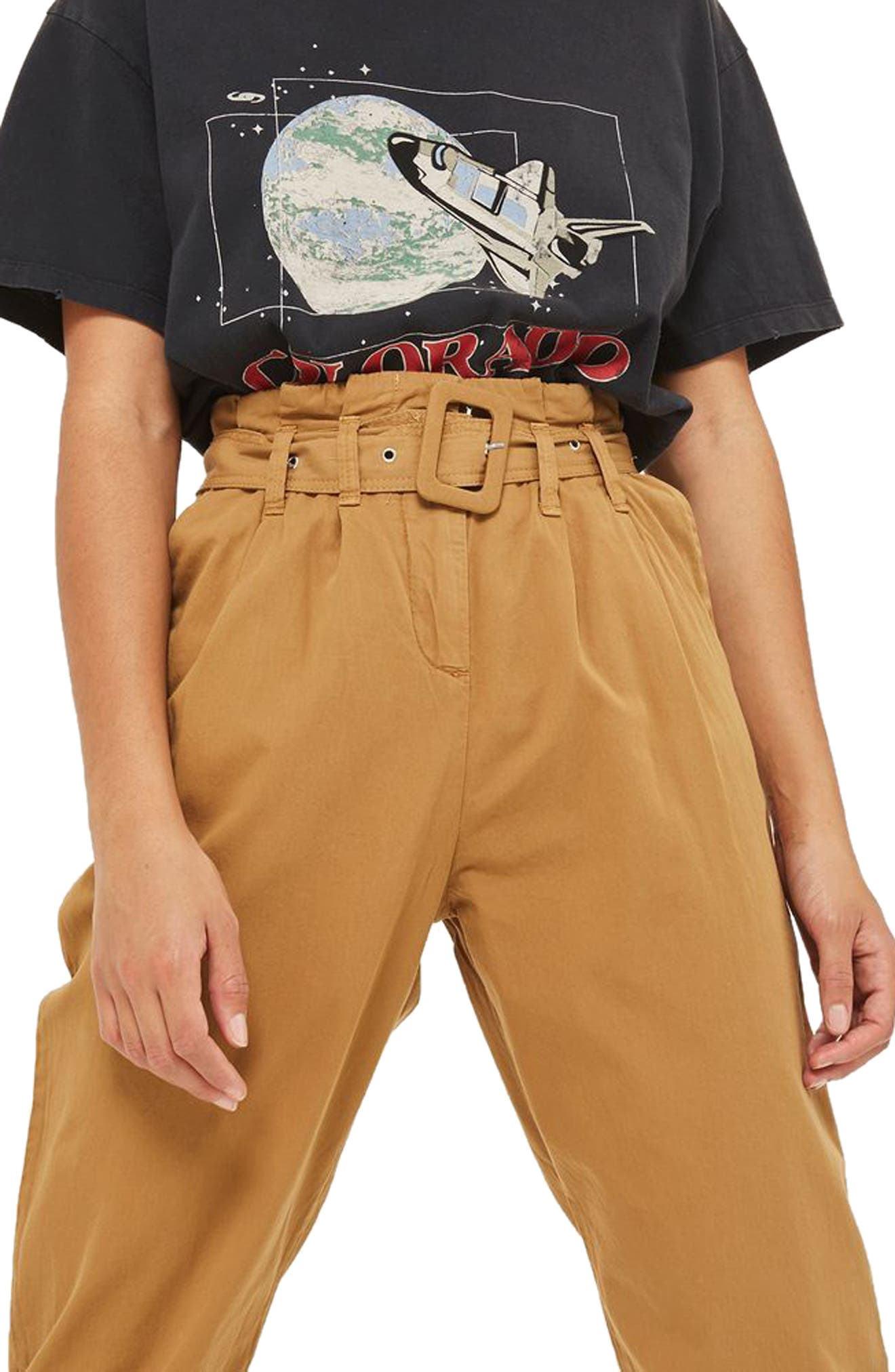 Alternate Image 3  - Topshop Belted Chino Pants