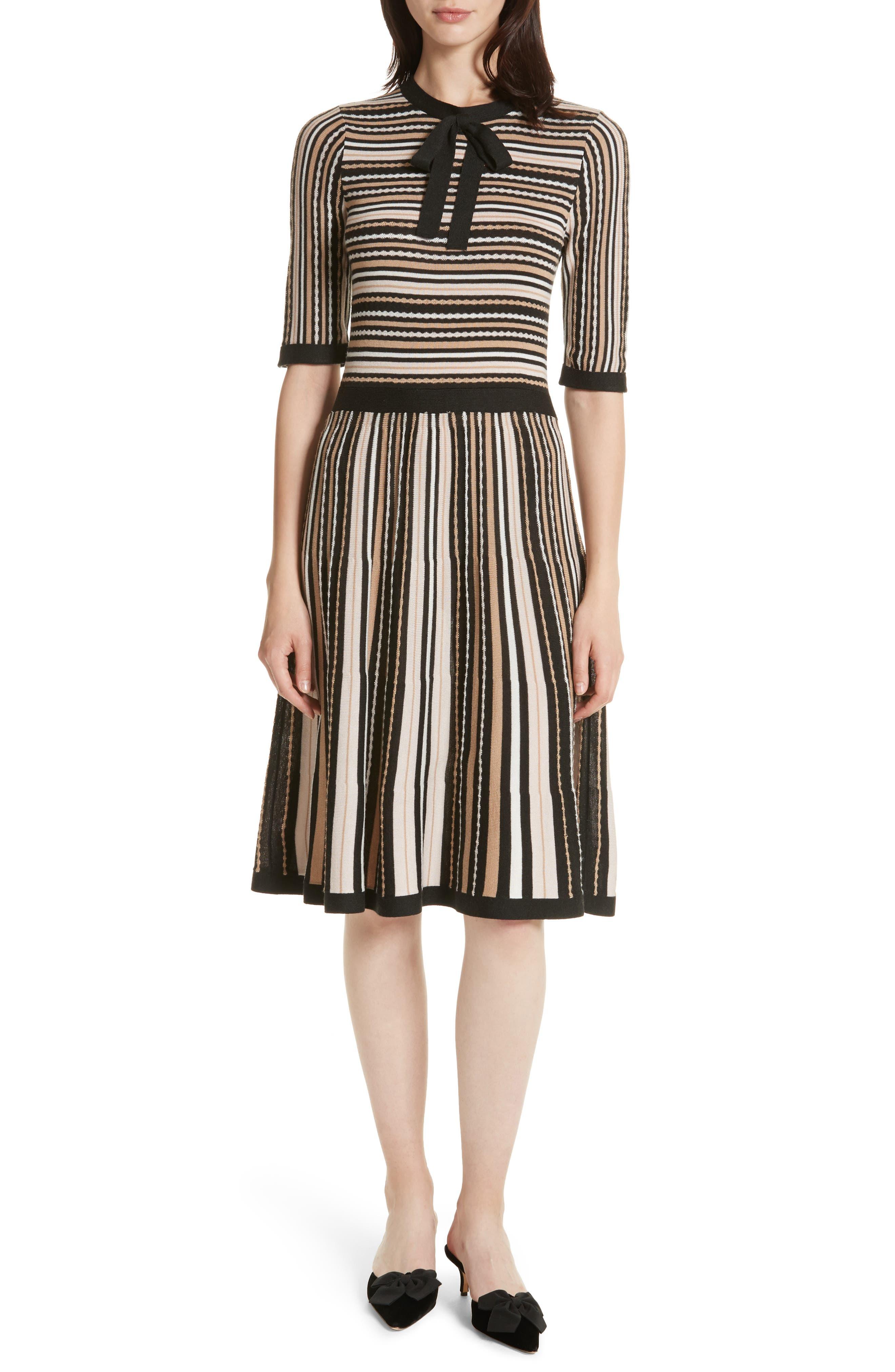 stripe sweater dress,                         Main,                         color, Rose Dew Multi