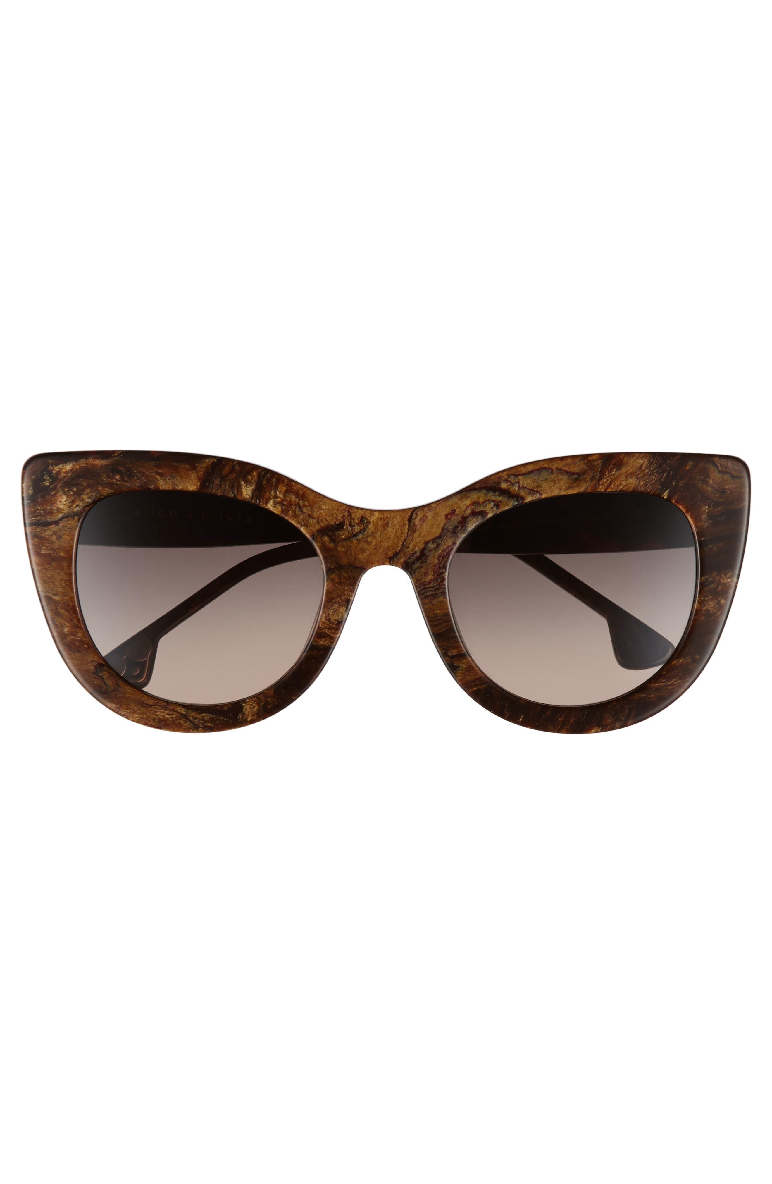 Alternate Image 3  - Alice + Olivia Delancey 51mm Cat Eye Sunglasses