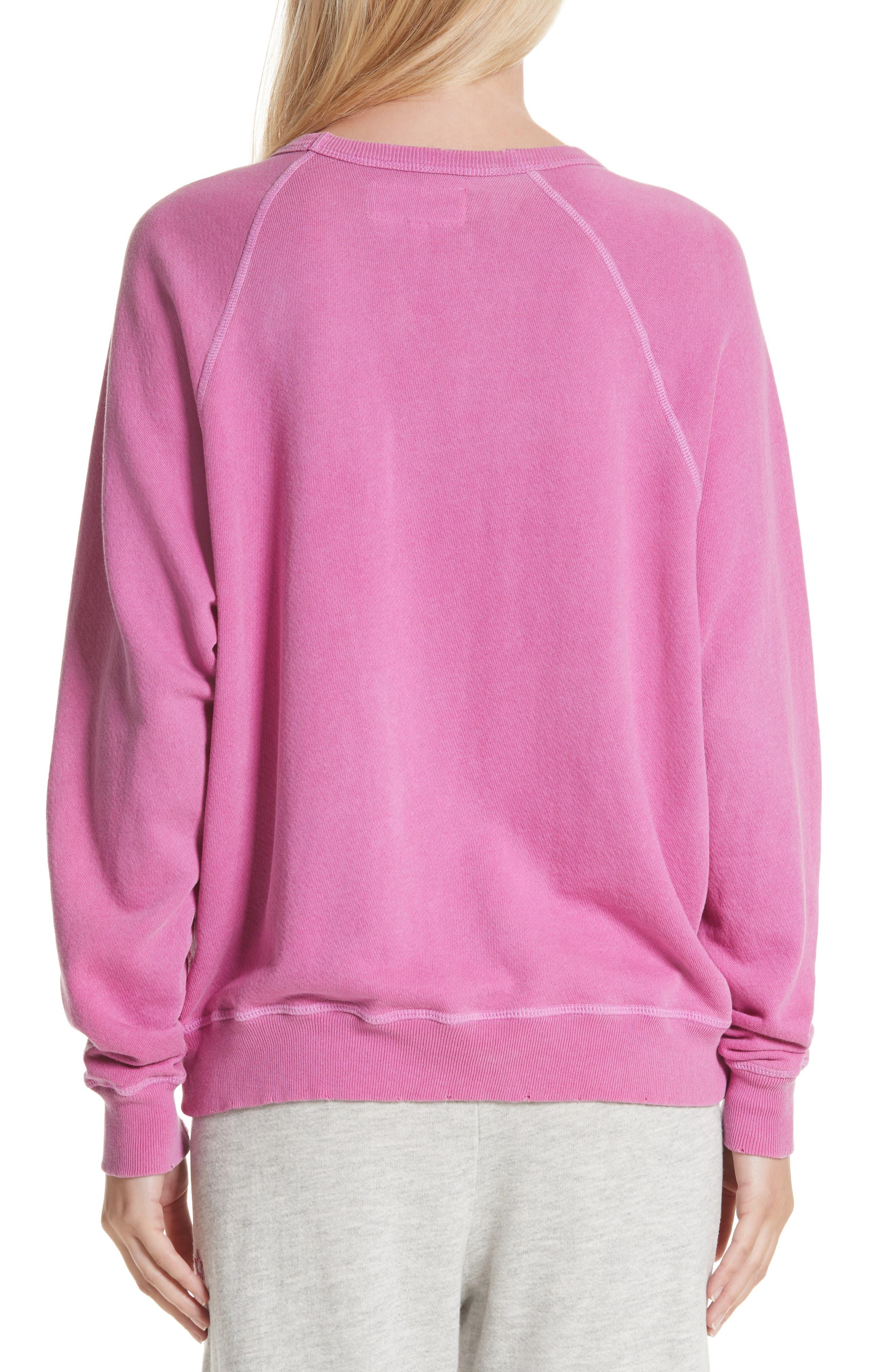 The College Sweatshirt,                             Alternate thumbnail 2, color,                             Thistle W/ Jaguar Graphic