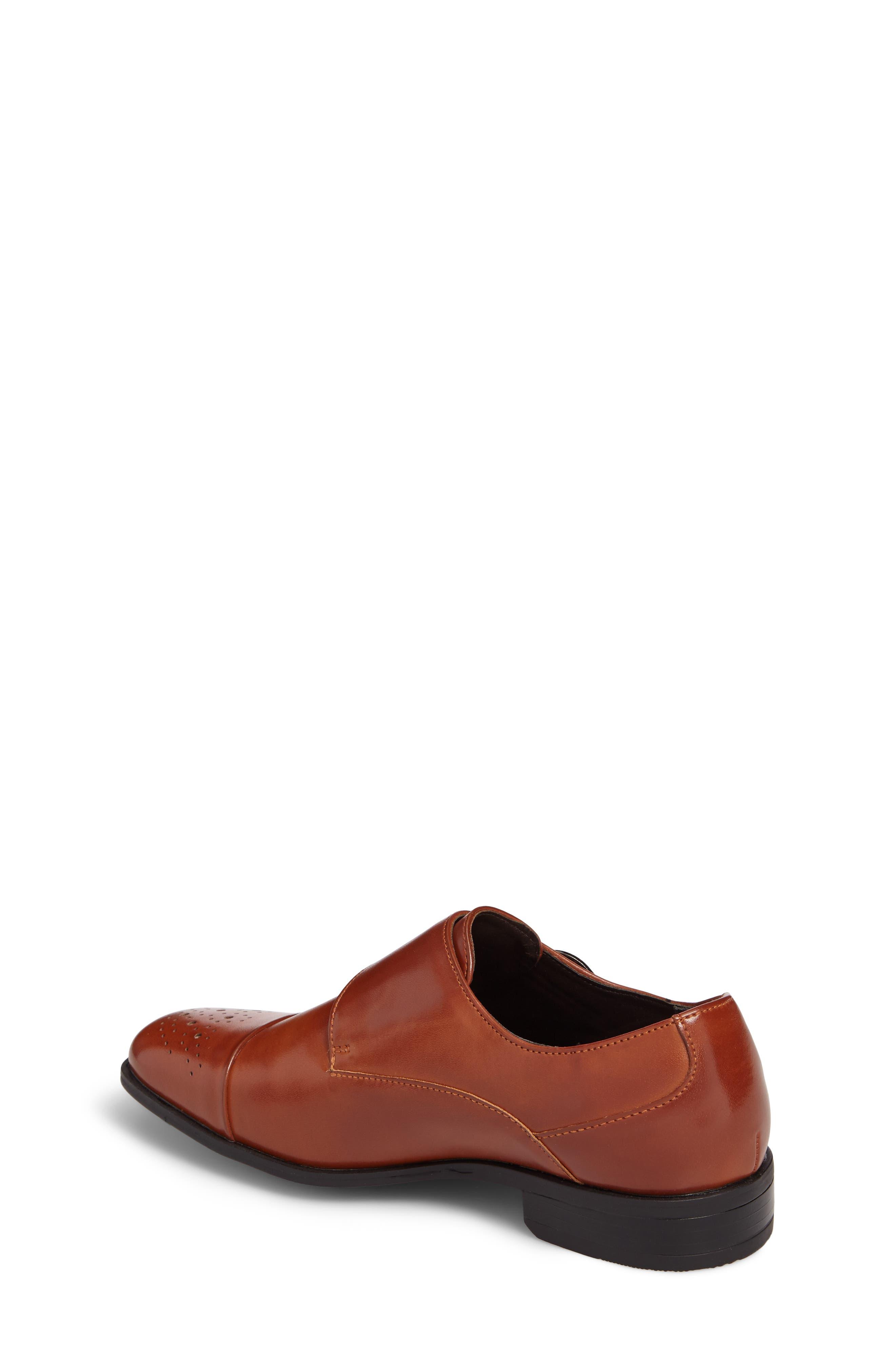 Trevor Cap Toe Monk Shoe,                             Alternate thumbnail 2, color,                             Cognac
