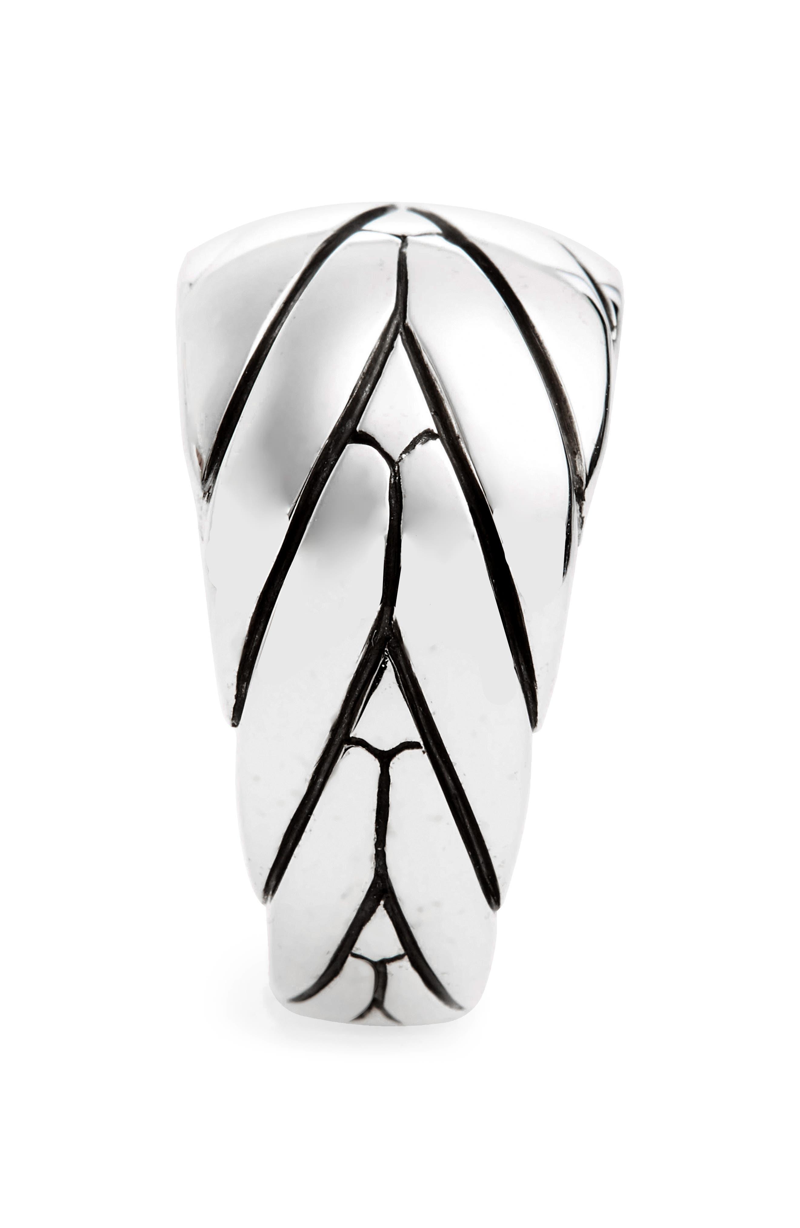 Medium Modern Chain Ring,                             Alternate thumbnail 2, color,                             Silver