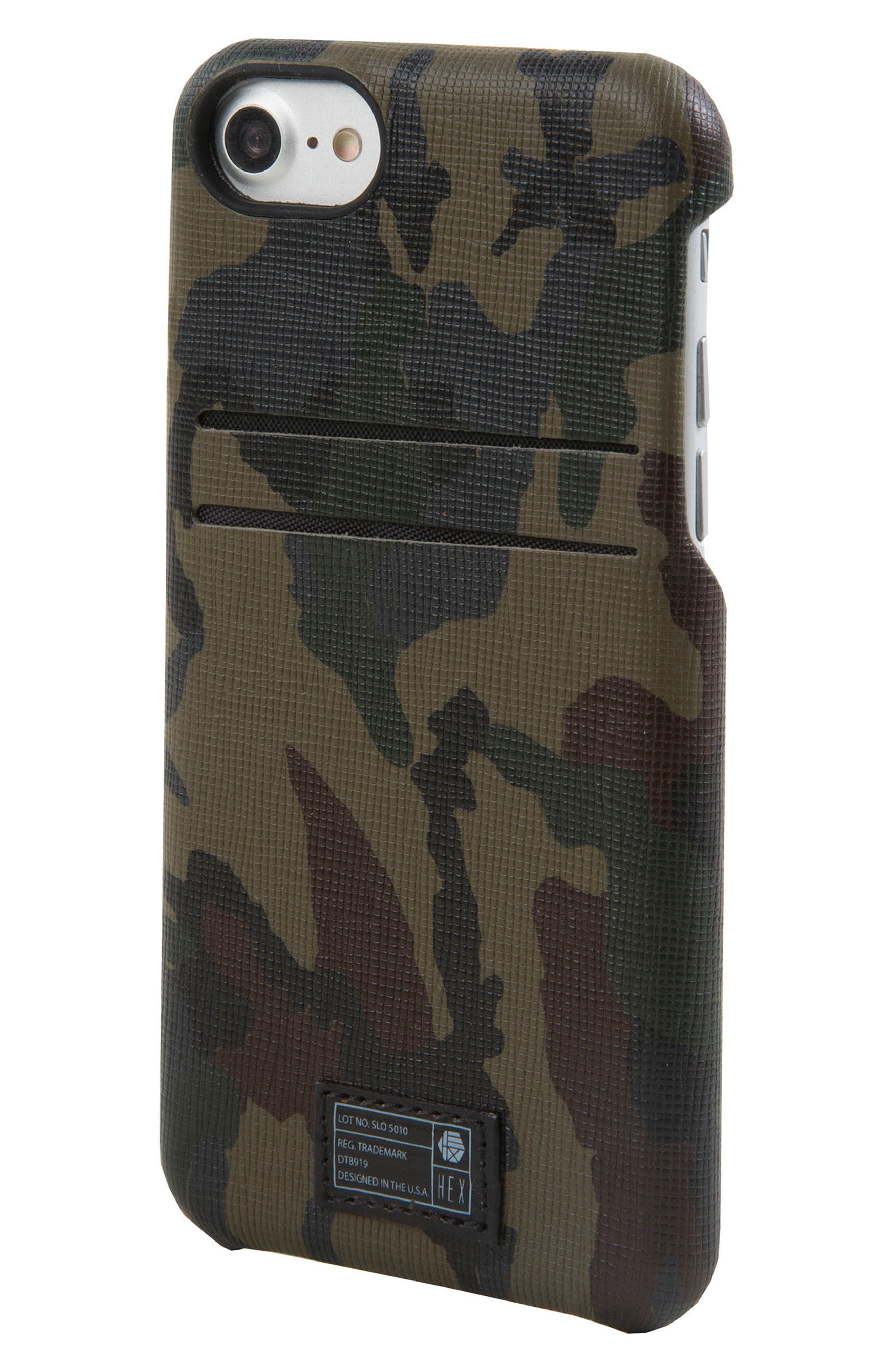 Solo iPhone 6/6s/7/8 Wallet Case,                             Main thumbnail 1, color,                             Camo/ Reflective
