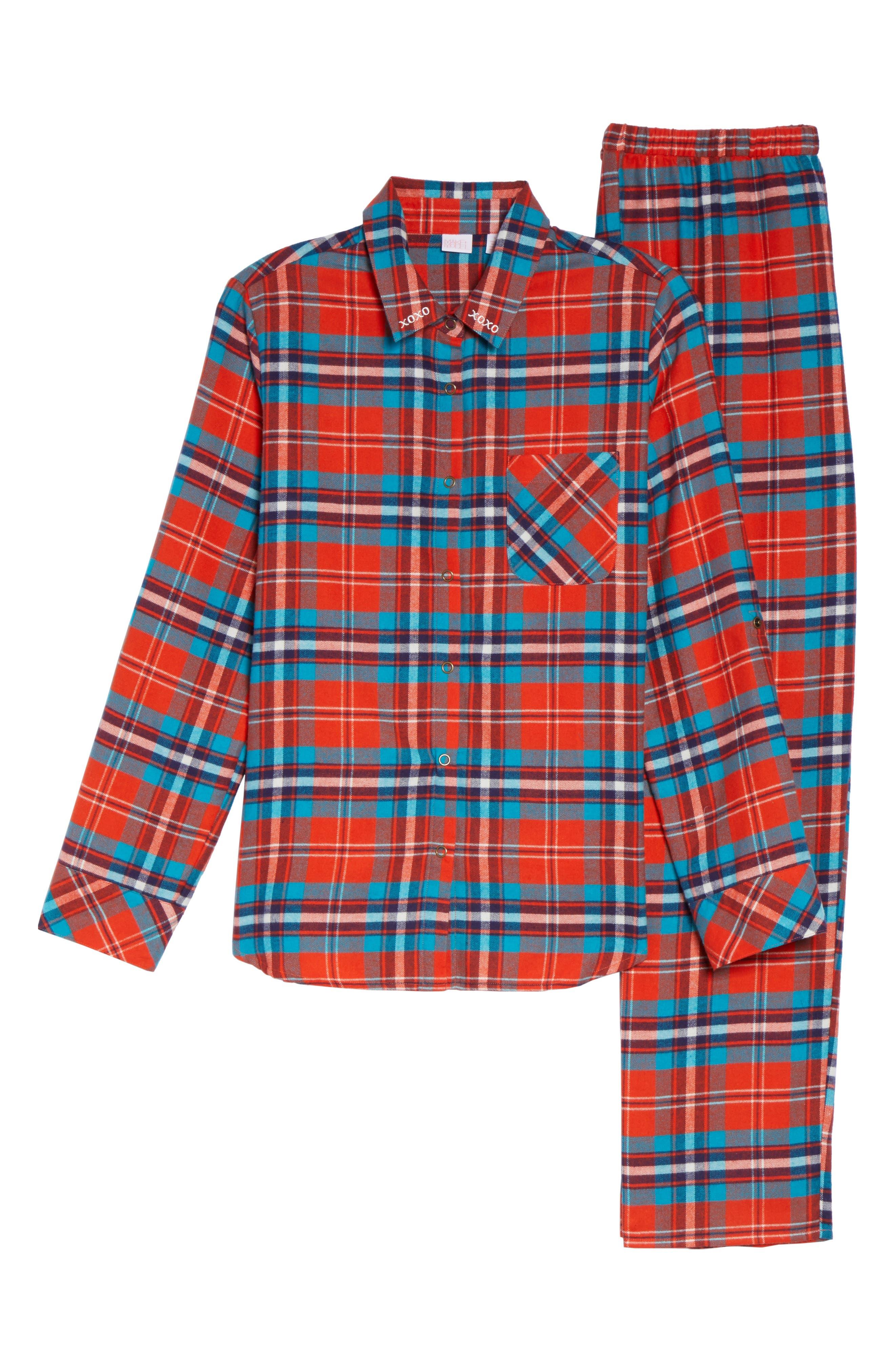 Alternate Image 5  - Make + Model Flannel Girlfriend Pajamas