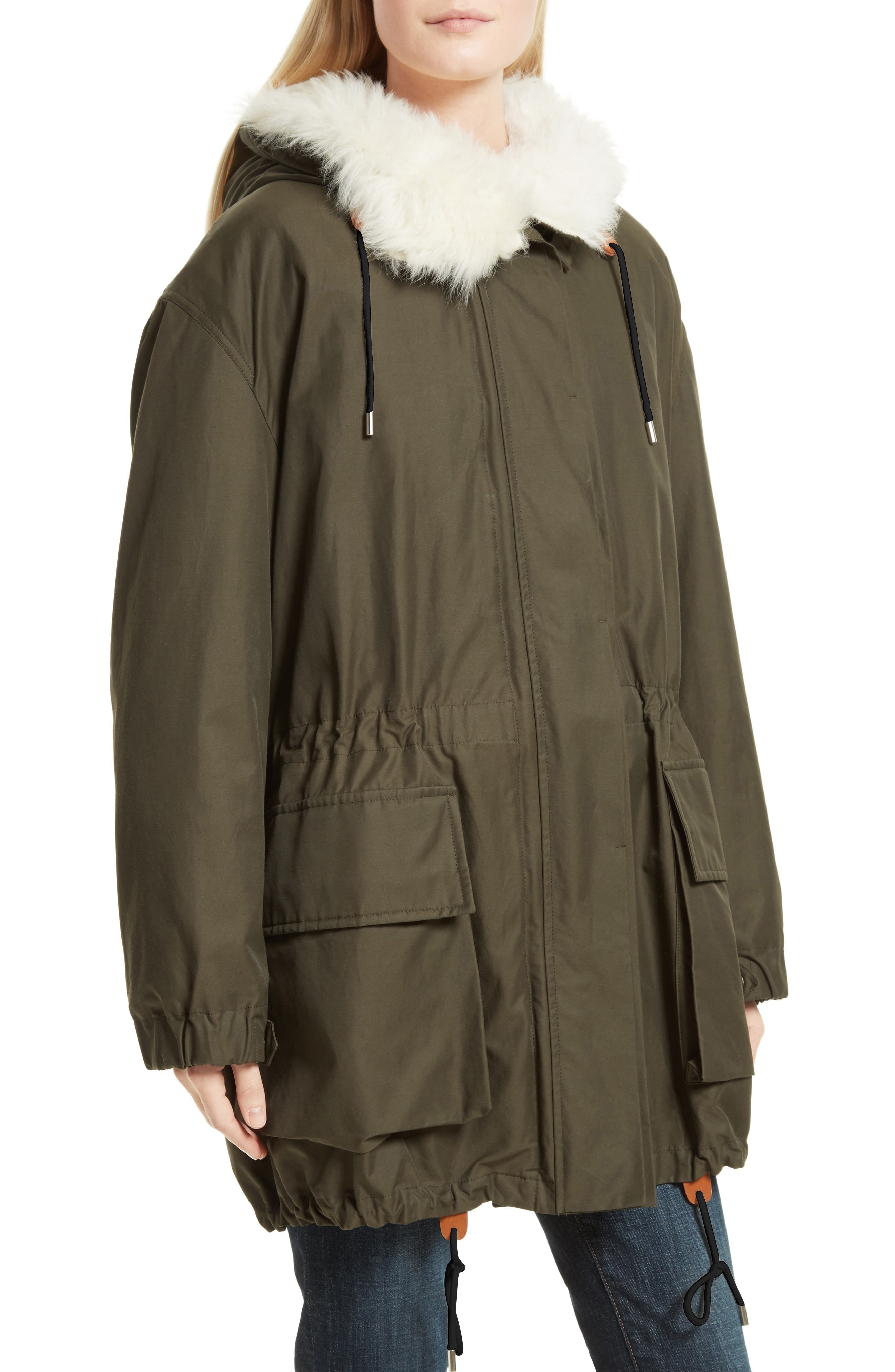 Alternate Image 4  - Theory Sharya Technical Crisp Genuine Shearling Trim Parka