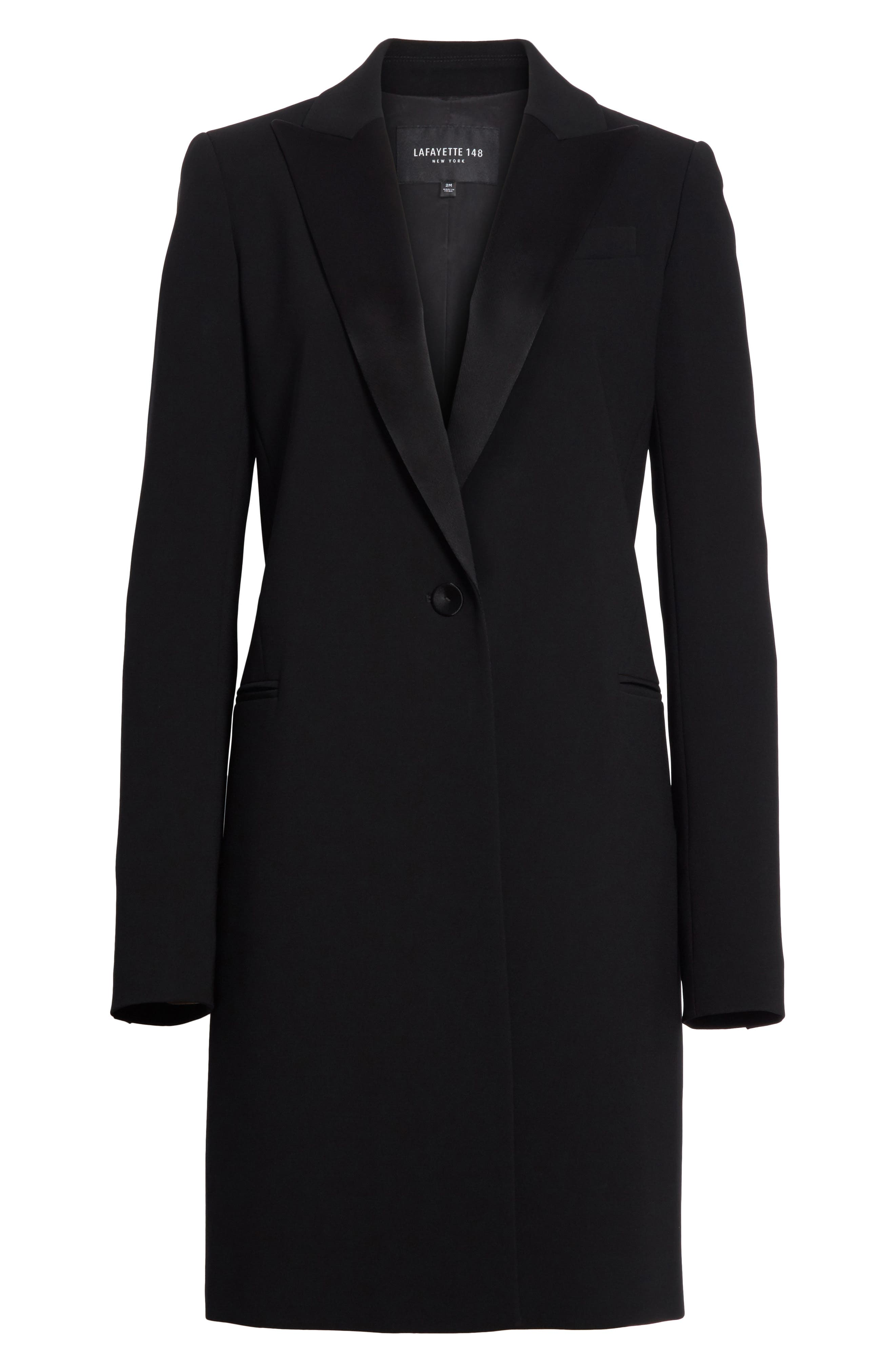 Alternate Image 6  - Lafayette 148 New York Satin Lapel Tuxedo Jacket