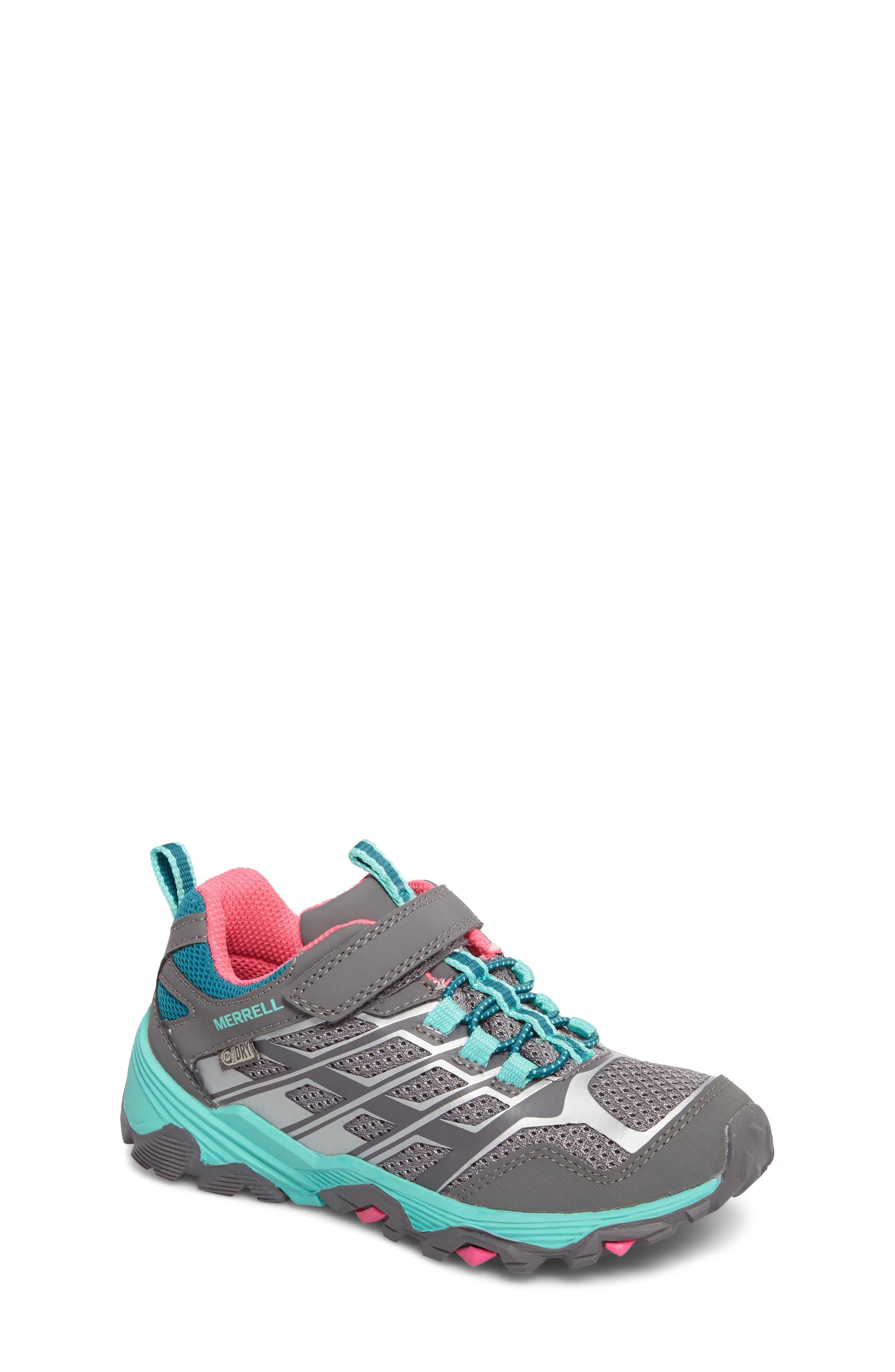Moab FST Polar Low Waterproof Sneaker,                         Main,                         color, Grey/ Multi