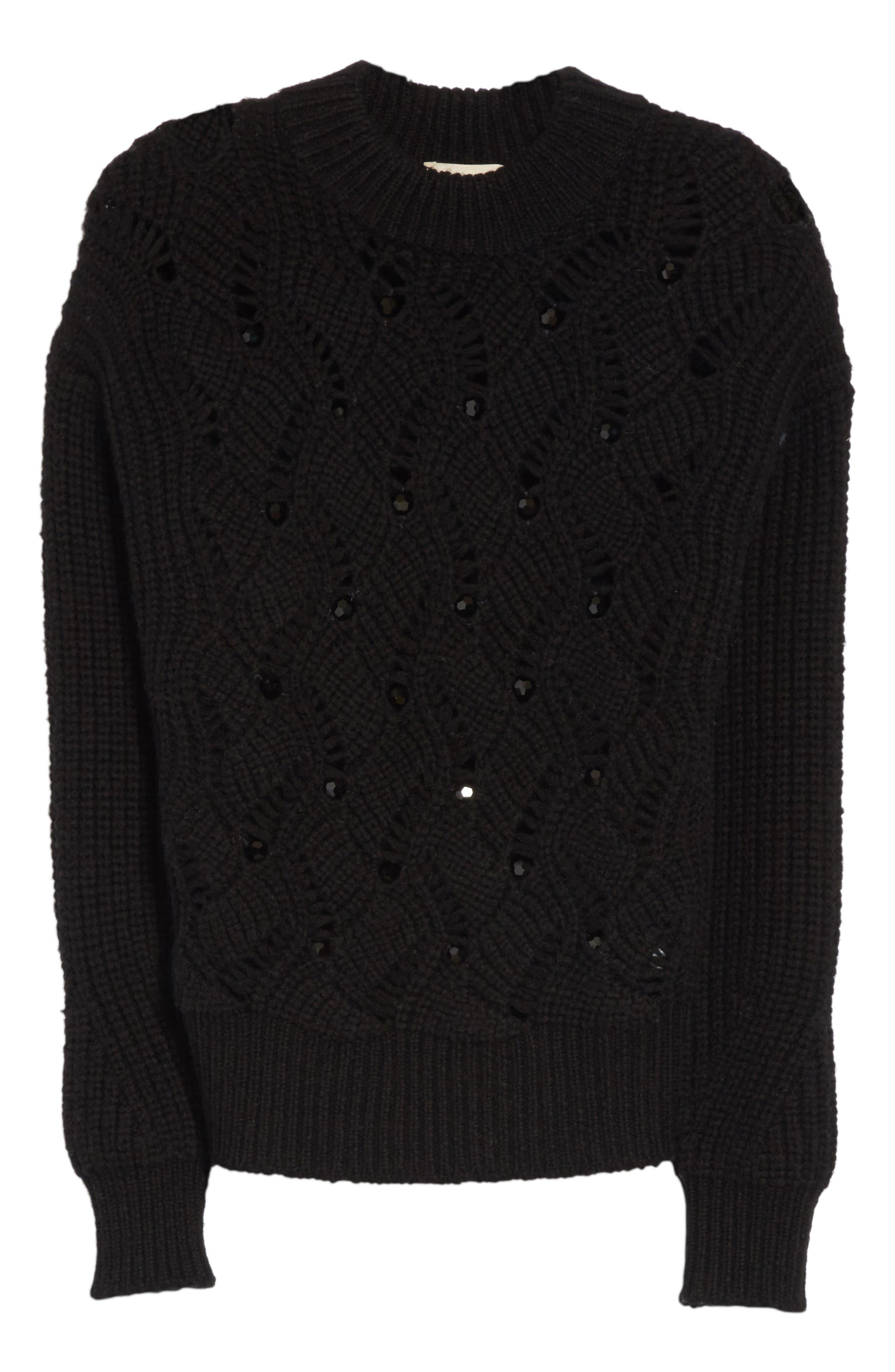 Alternate Image 6  - Rebecca Taylor Embellished Wool Blend Sweater