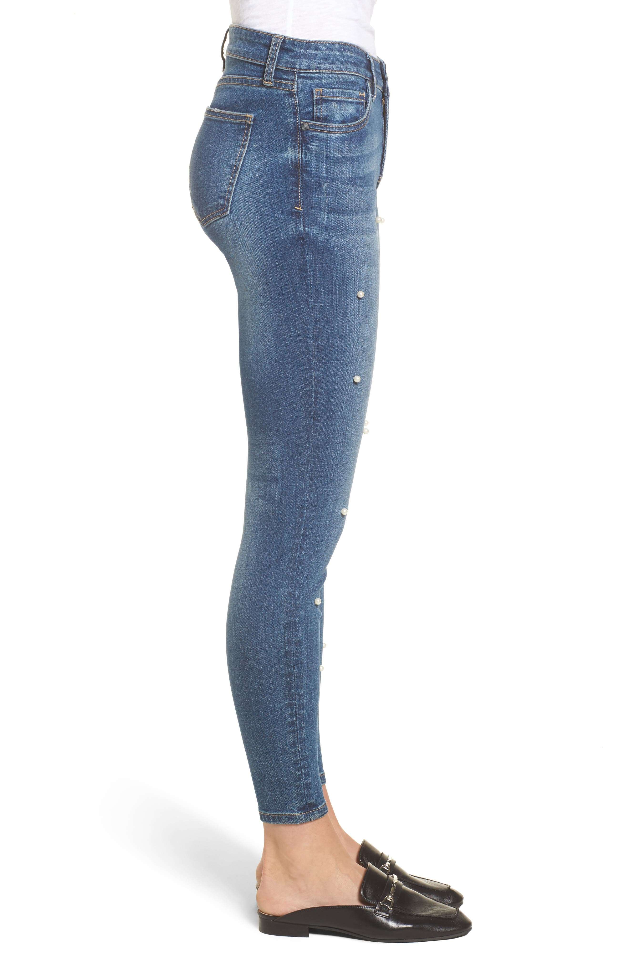 Brigitte Ankle Skinny Jeans,                             Alternate thumbnail 4, color,                             Bewitching/ Dark Stone