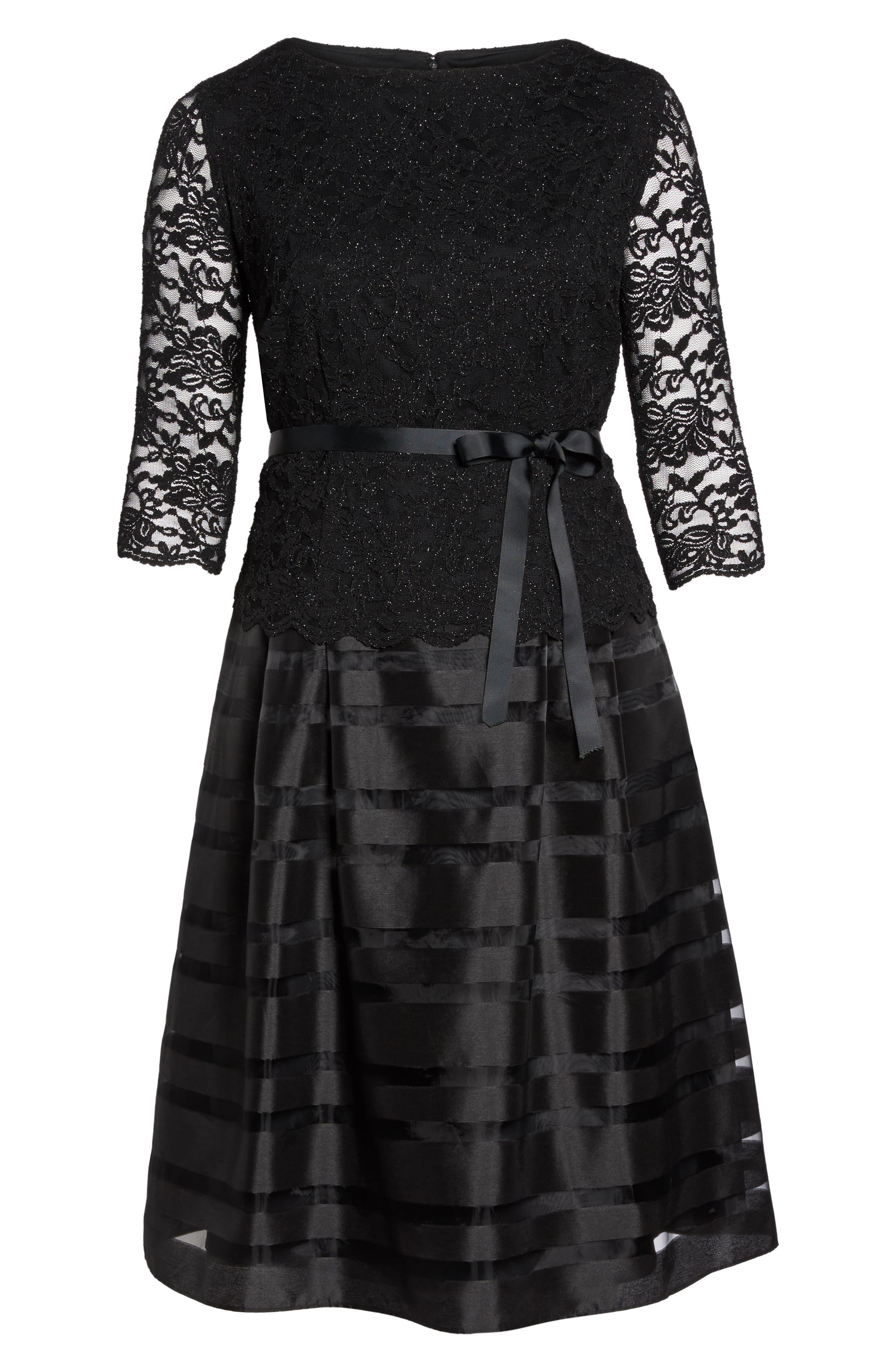 Alternate Image 6  - Alex Evenings Mock Two-Piece A-Line Midi Dress (Plus Size)