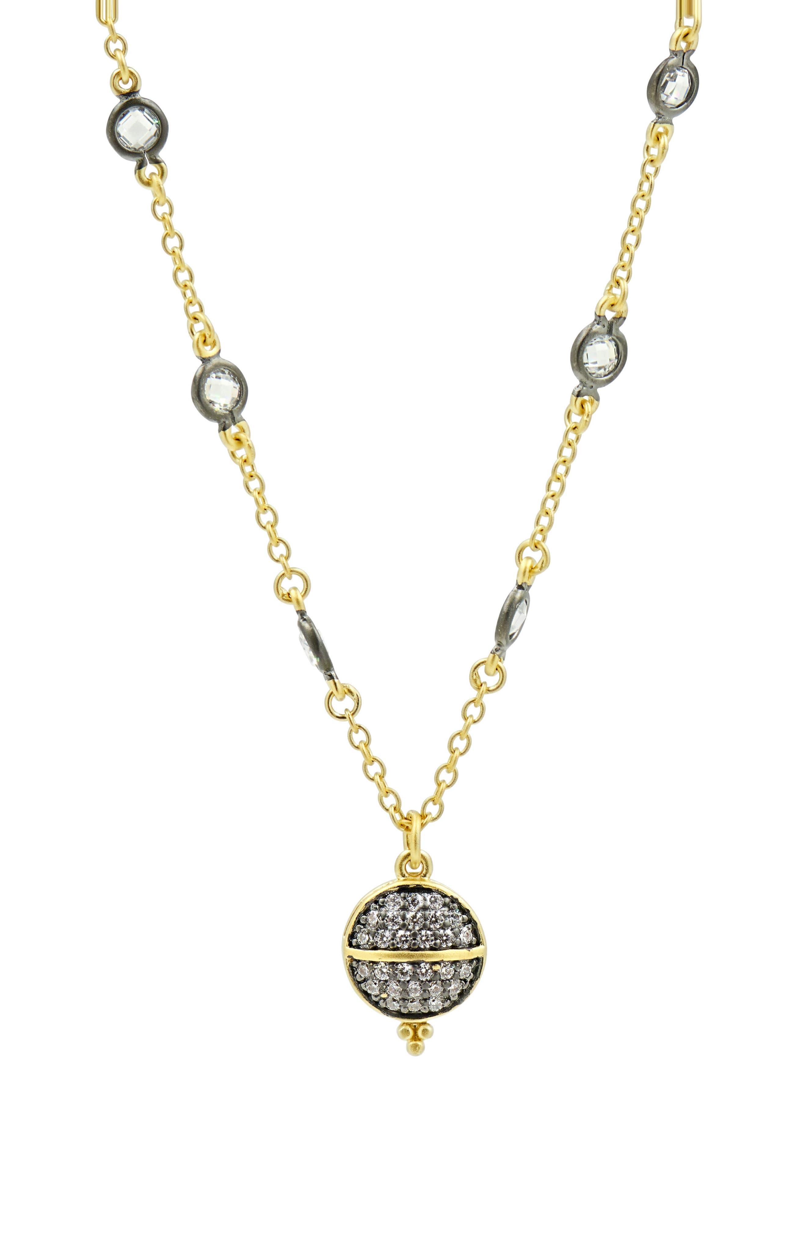 FREIDA ROTHMAN Textured Ornaments Choker Necklace