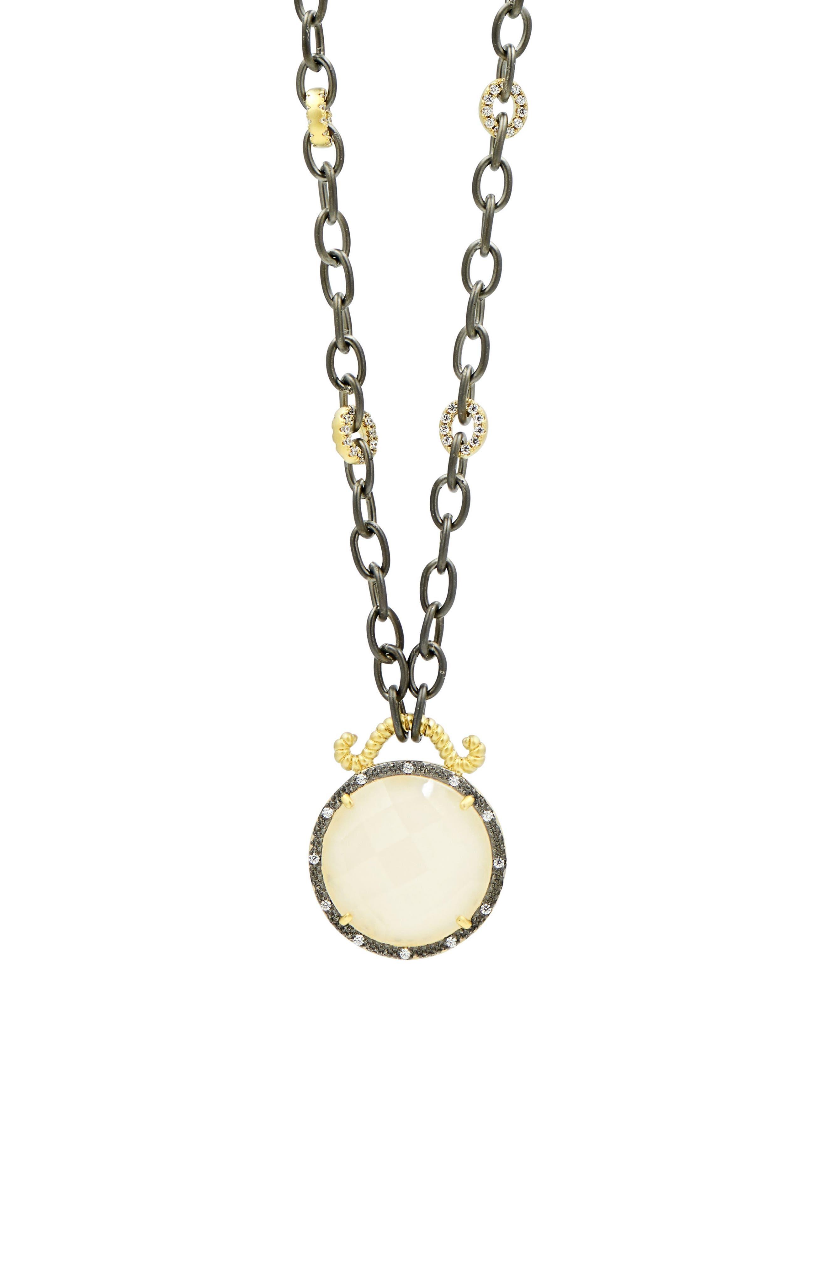 Gilded Cable Reversible Pendant Necklace,                             Alternate thumbnail 6, color,                             Black/ Gold