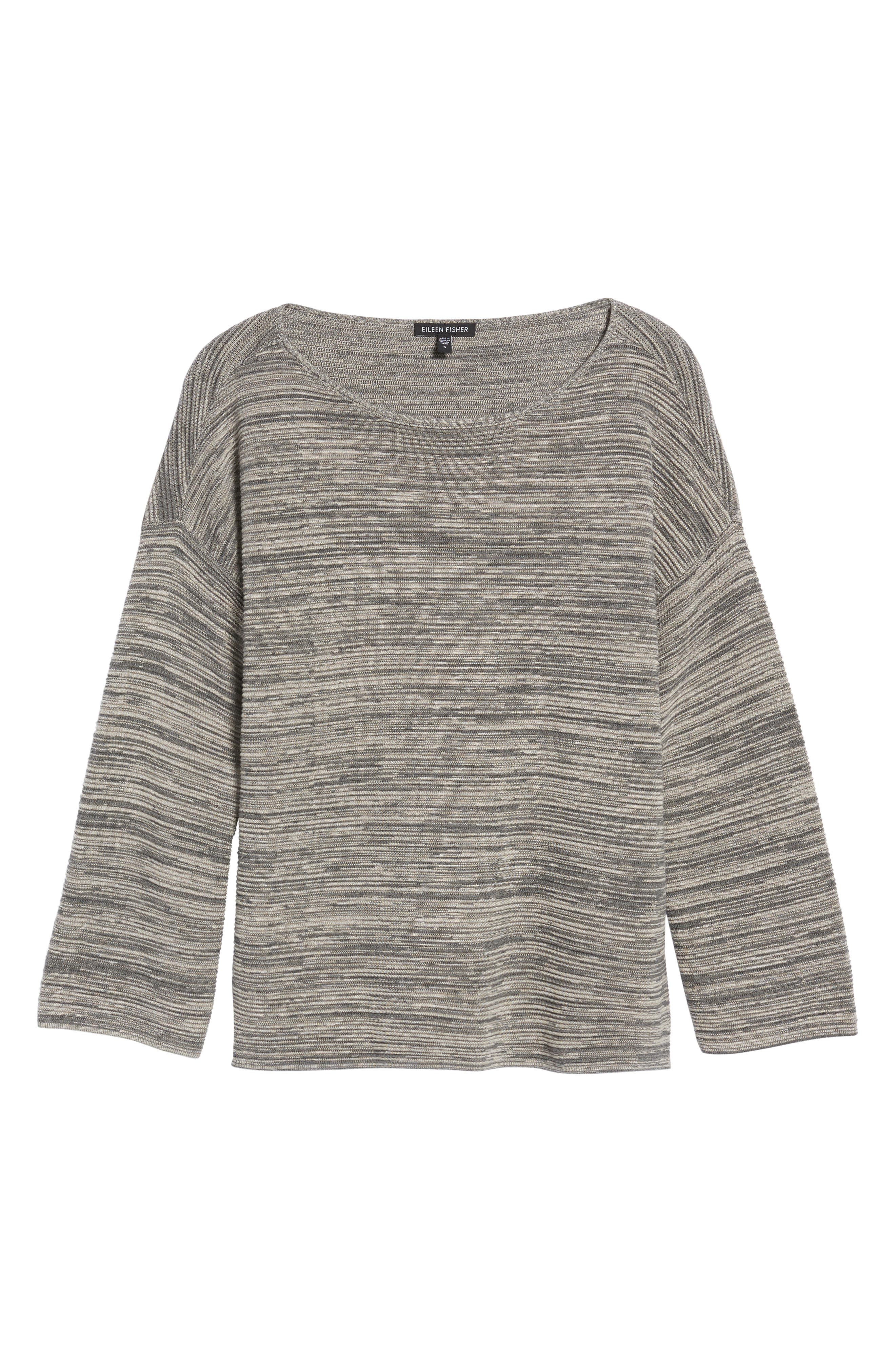 Tencel<sup>®</sup> & Organic Cotton Sweater,                             Alternate thumbnail 6, color,                             Maple Oat