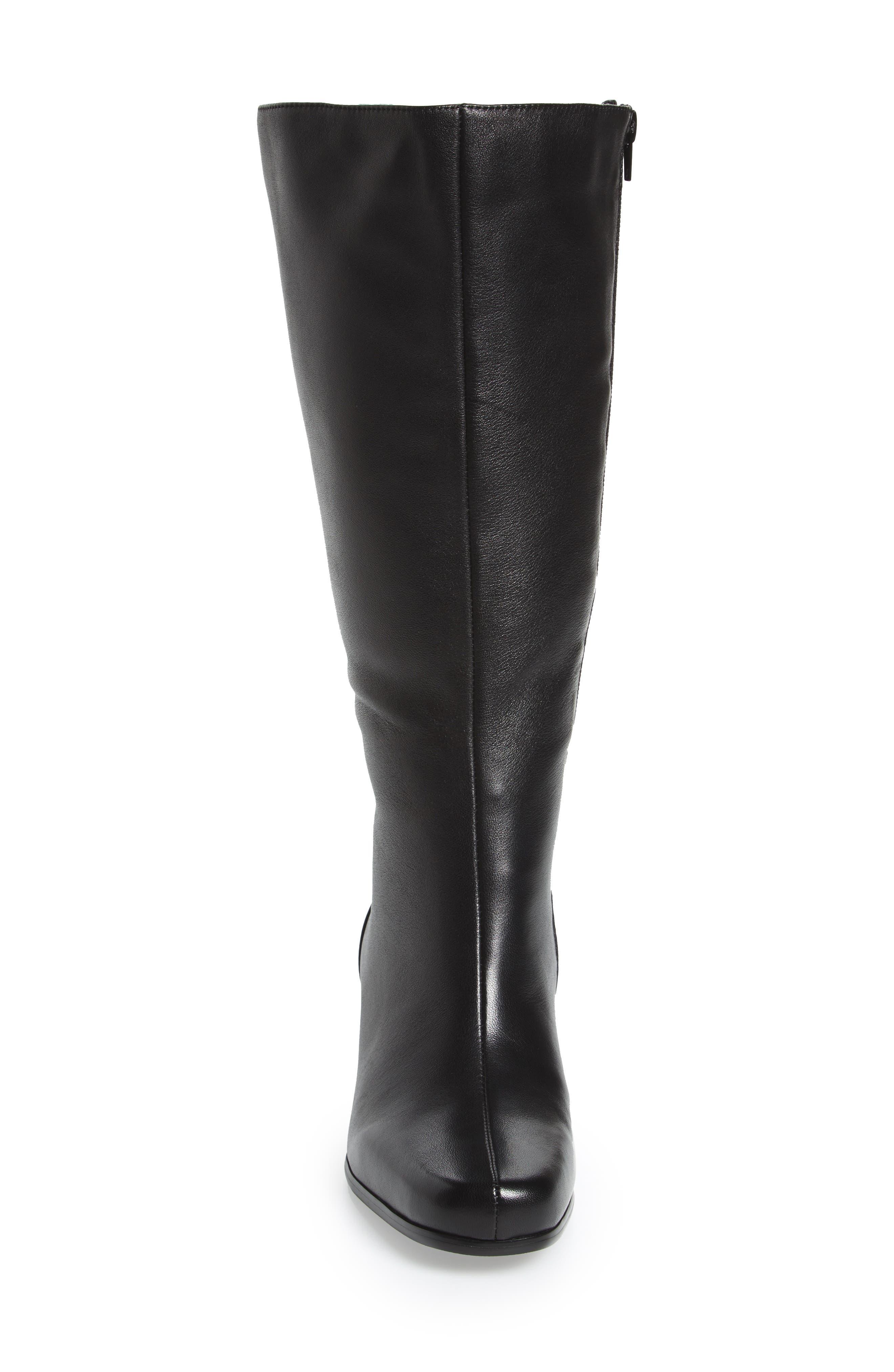 Tacoma 18 Tall Boot,                             Alternate thumbnail 4, color,                             Black Leather