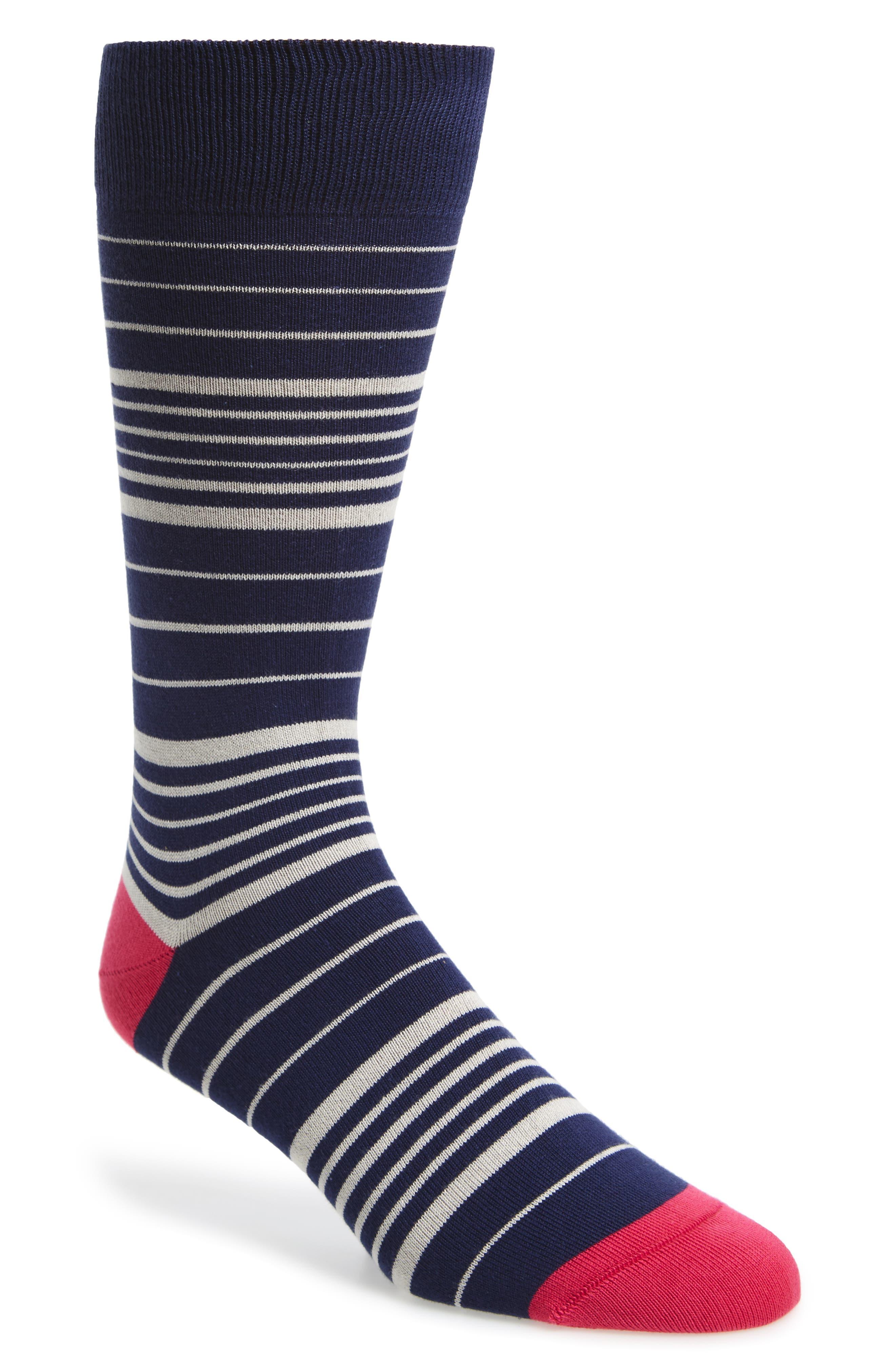 Stripe Socks,                         Main,                         color, Blue