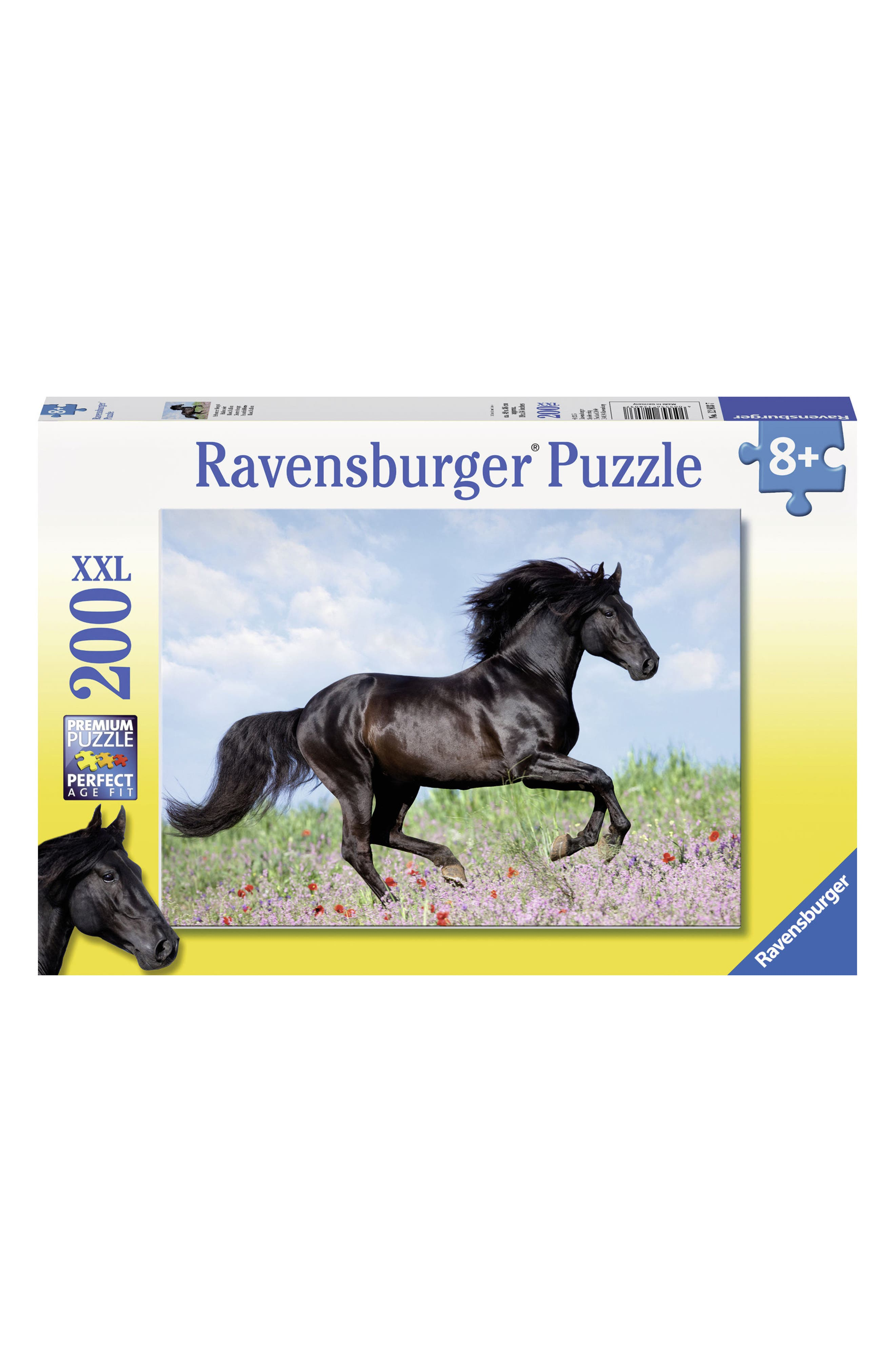 Beautiful Horse 200-Piece Puzzle,                         Main,                         color, Black