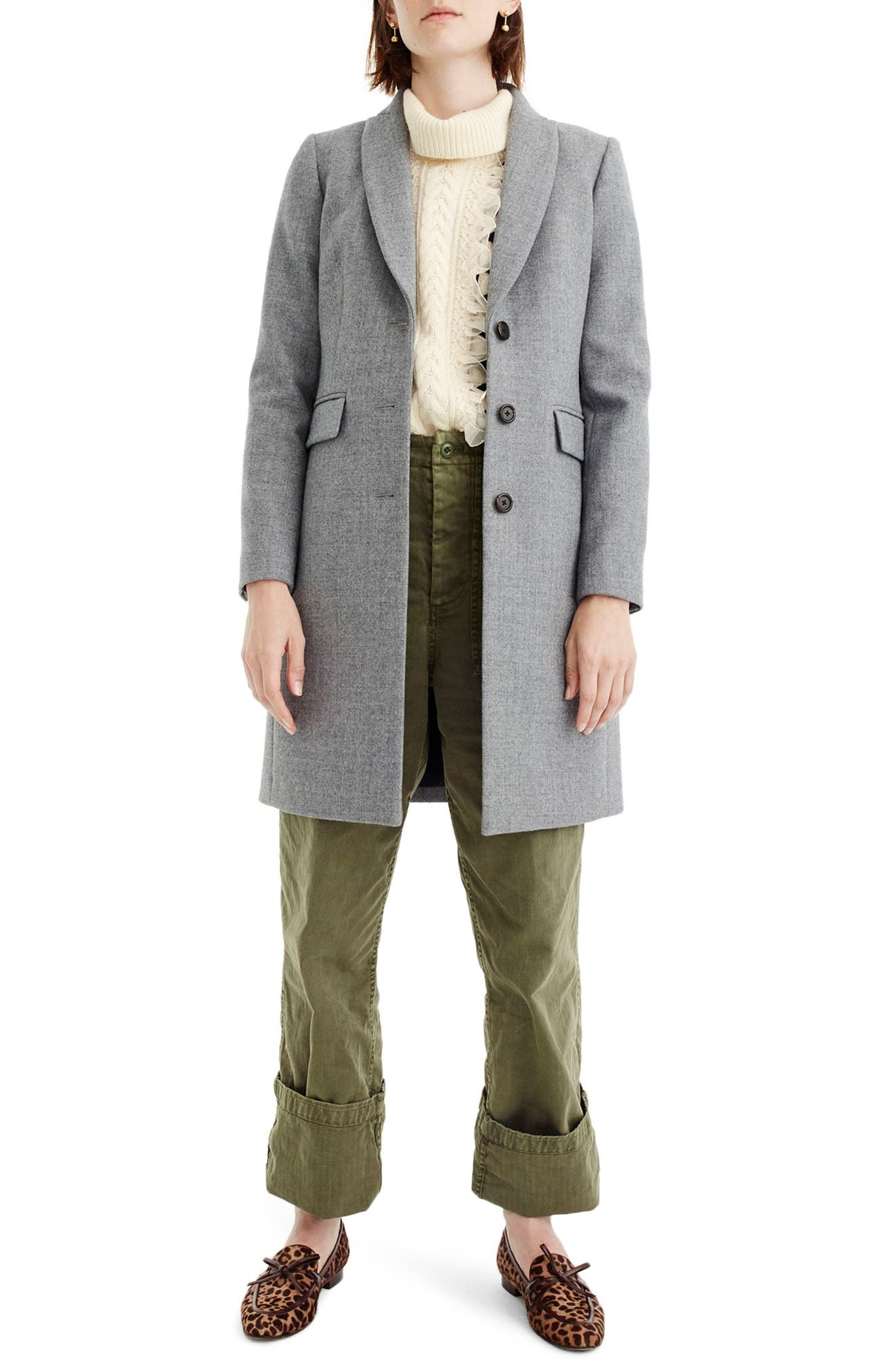 Alternate Image 1 Selected - J.Crew Eniko Wool Topcoat