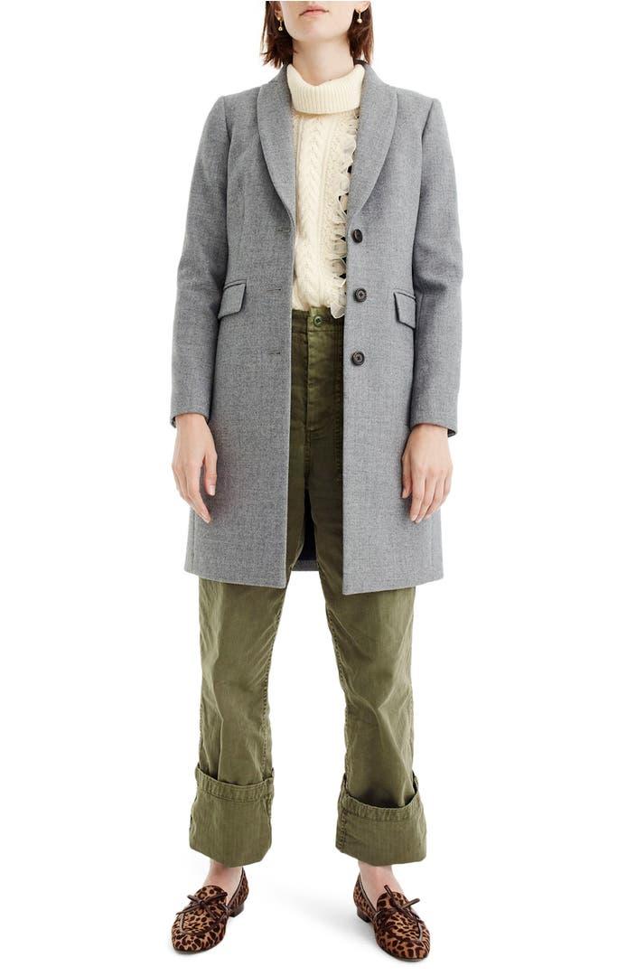 J crew eniko wool topcoat nordstrom for J crew stores manhattan