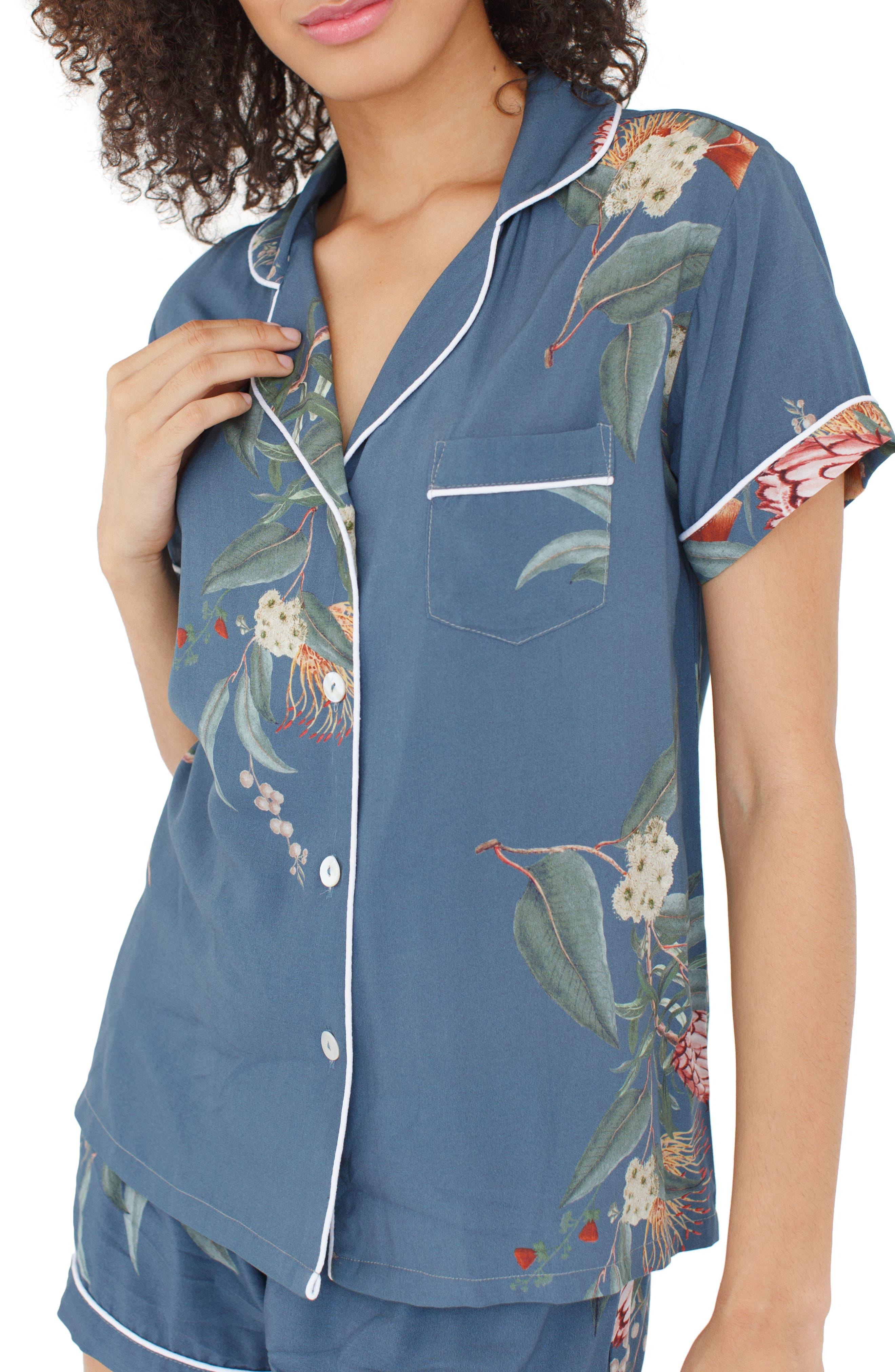 Floral Short Pajamas,                             Alternate thumbnail 3, color,                             Jupiter