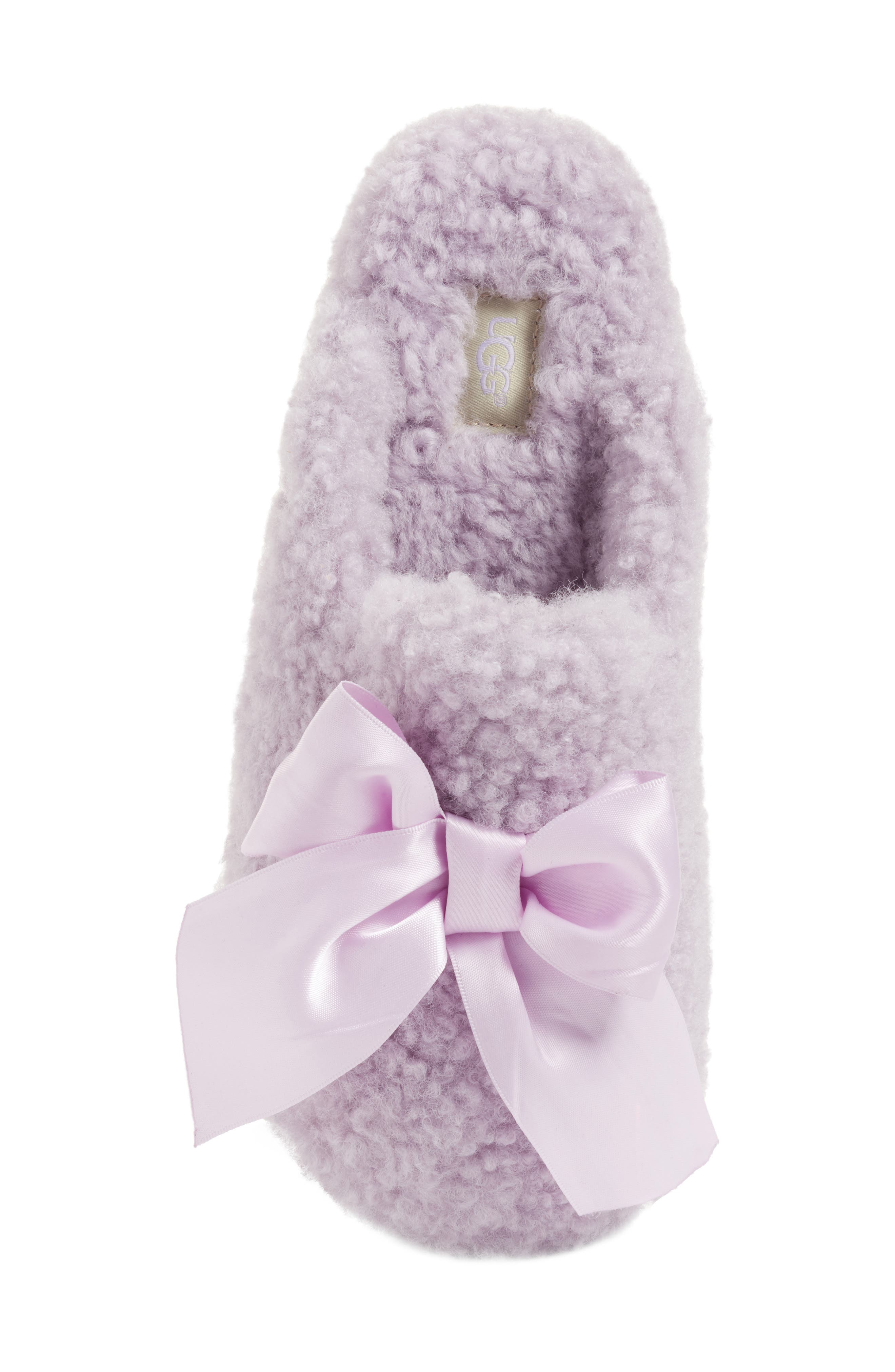 Addison Bow Slipper,                             Alternate thumbnail 5, color,                             Lavender Fog